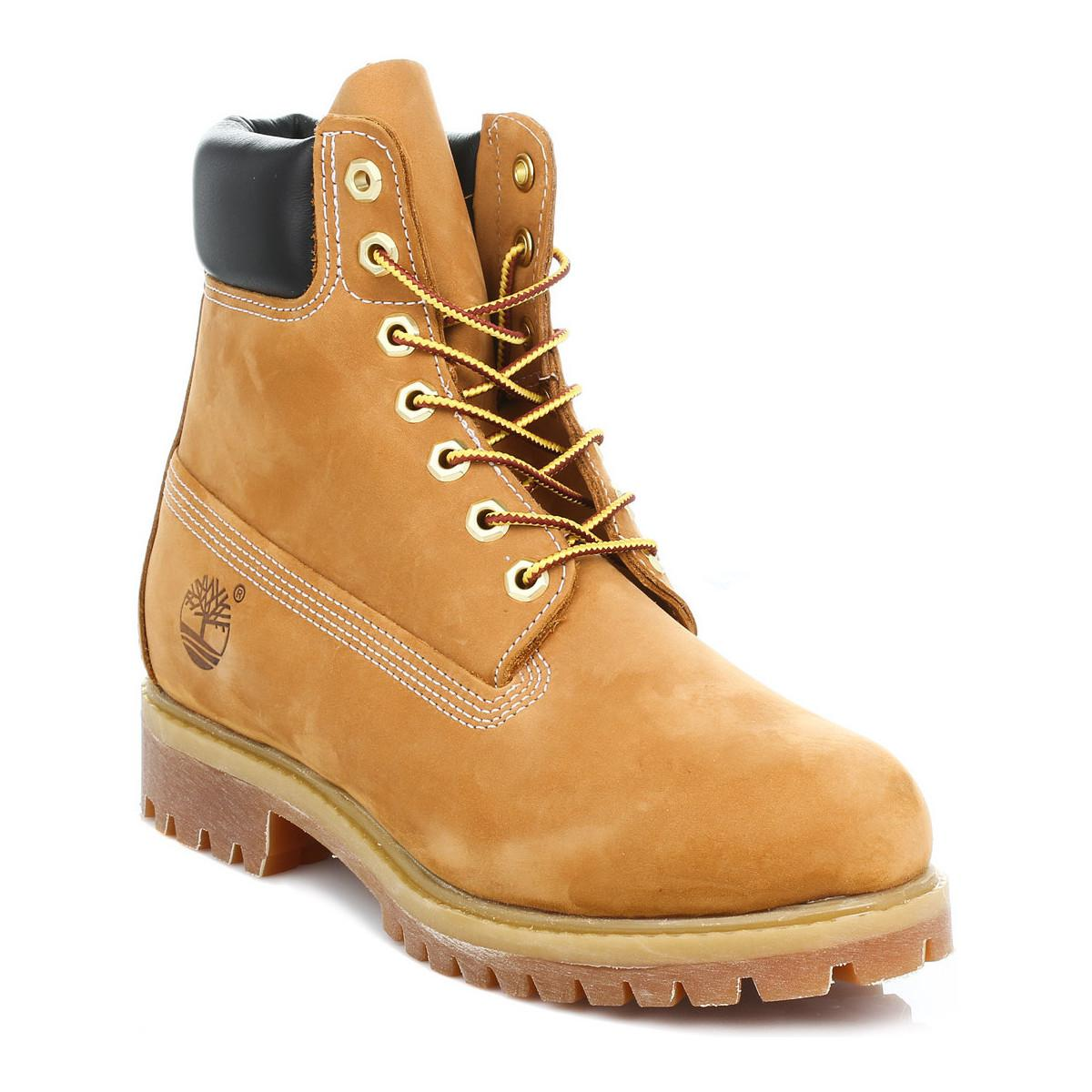 021d40d38ad9 Timberland Mens Wheat Premium Classic 6 Inch Nubuck Leather Ankle ...