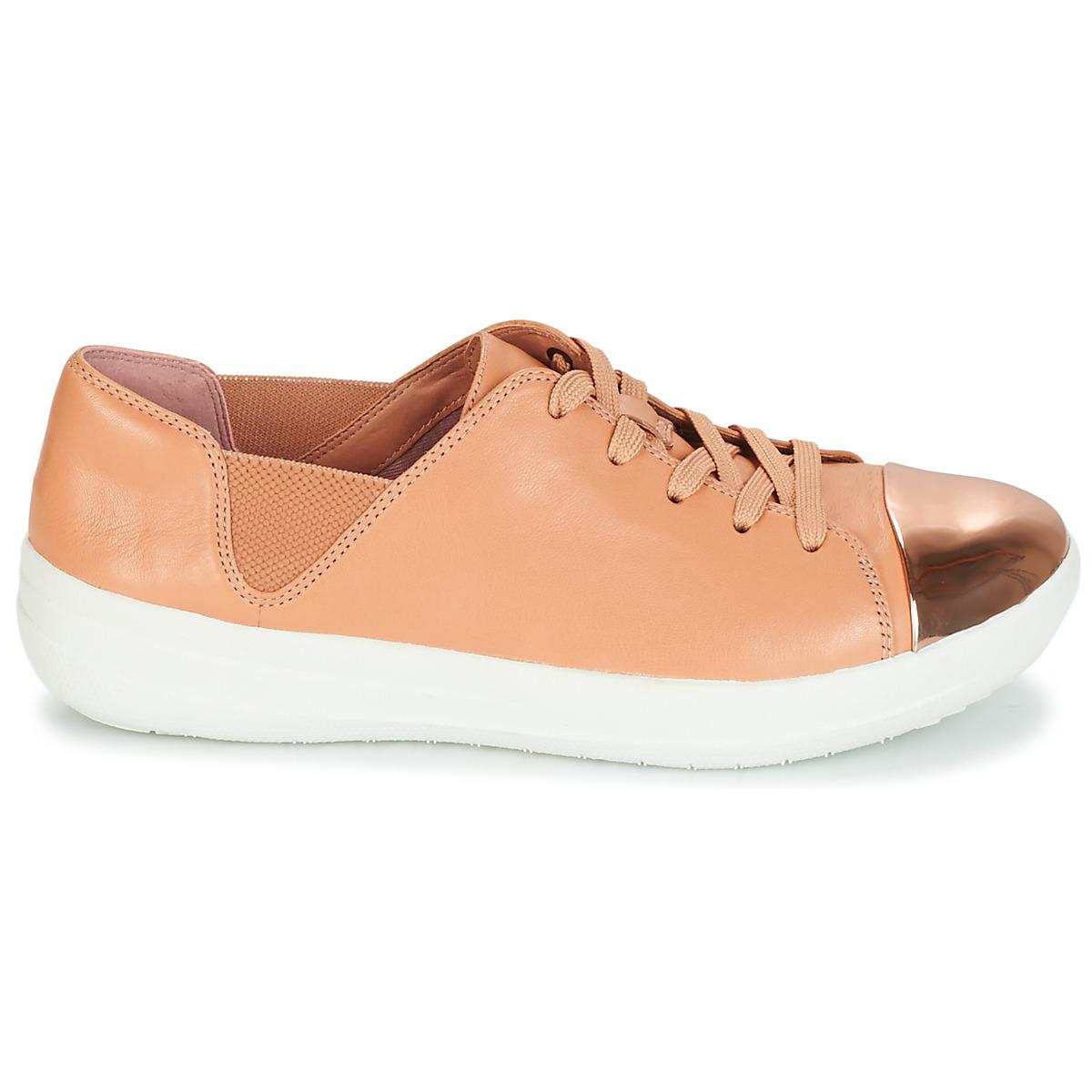 dac53f2f1b146 Fitflop - Natural F-sporty Mirror-toe Sneakers Women s Shoes (trainers) In.  View fullscreen