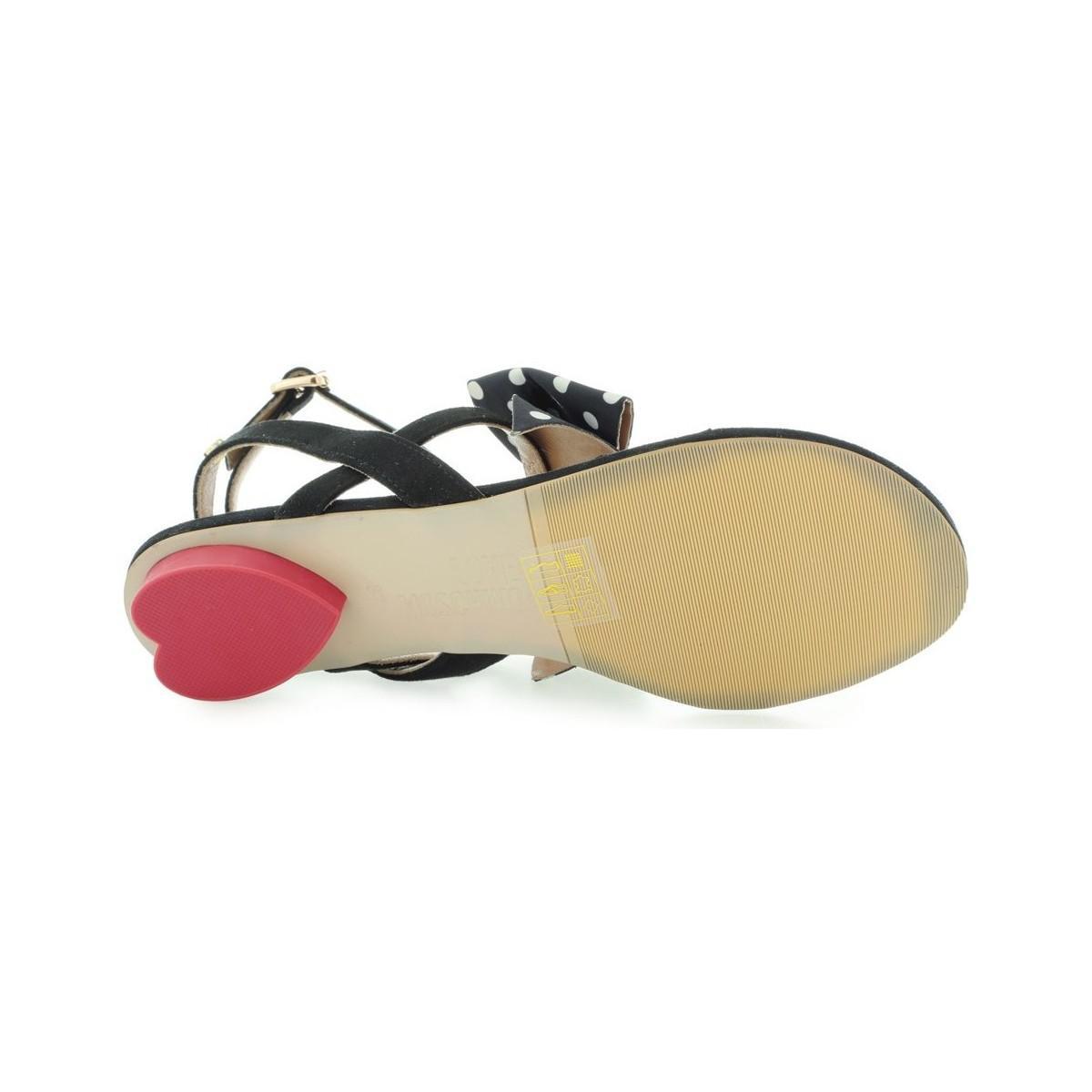 Love Moschino Sandales Sandalo LO DLAV0915 Campu Pois Nero Bianco Love Moschino kipeEj5