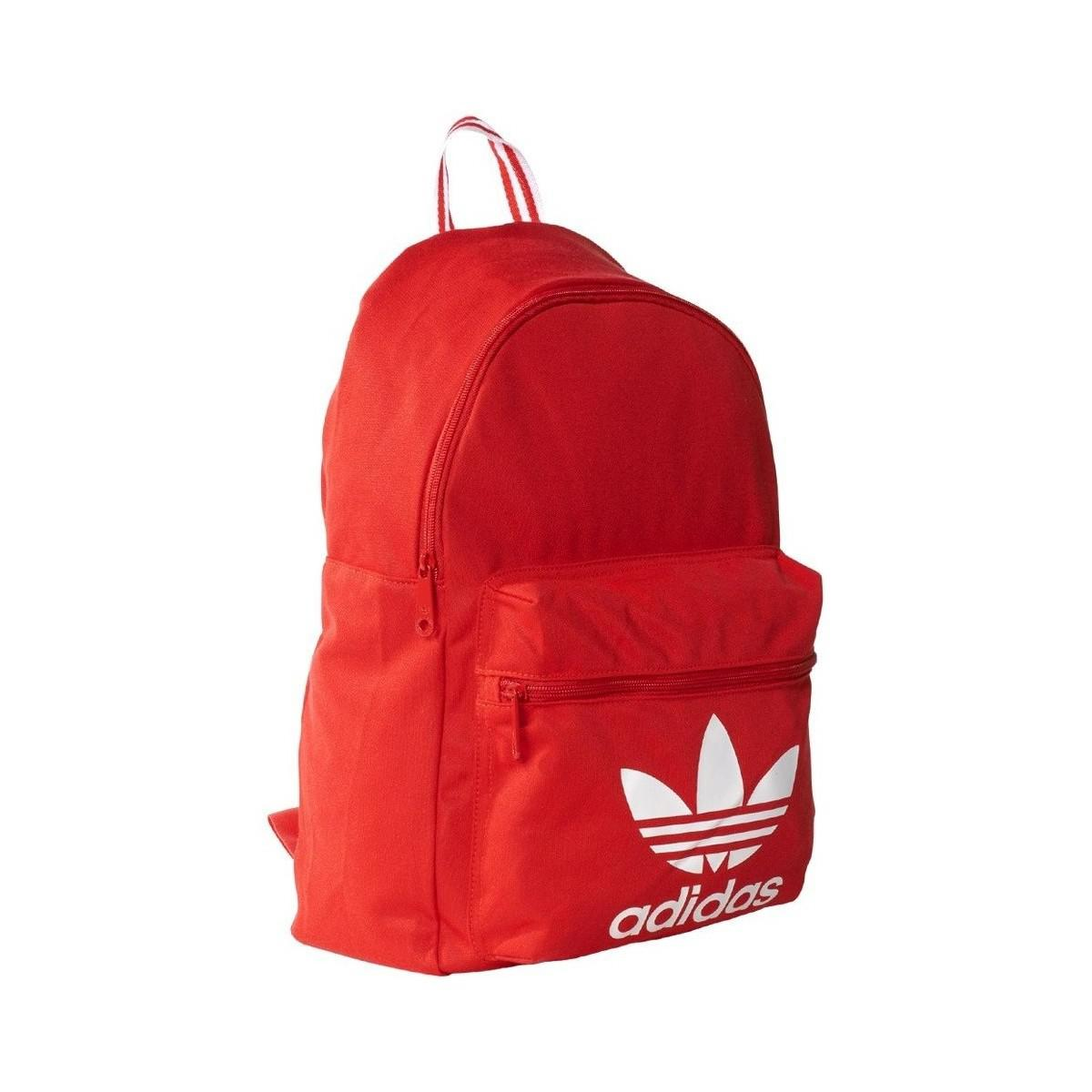 3fbf4816134e adidas Classic Tricot Men s Backpack In Red in Red - Lyst