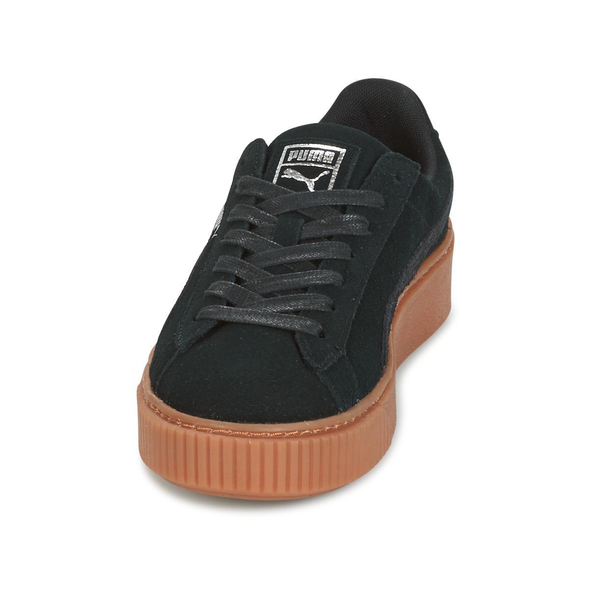 974fe1d95452 PUMA Suede Platform Core Gum Women s Shoes (trainers) In Black in ...