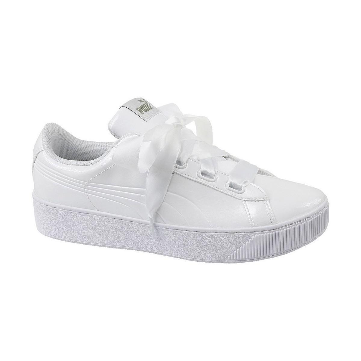 141e30e772d PUMA Vikky Platform Ribbon Women s Shoes (trainers) In White in ...