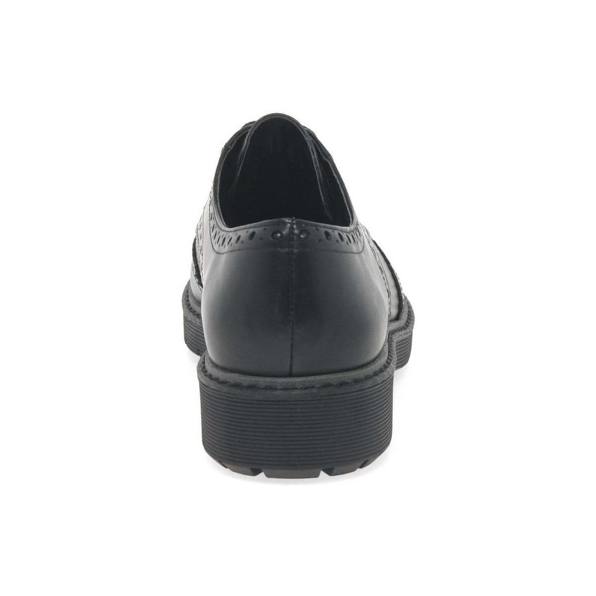 eaf88012bd5c Clarks - Black Alexa Darcy Womens Lace Up Wing Tip Brogues - Lyst. View  fullscreen
