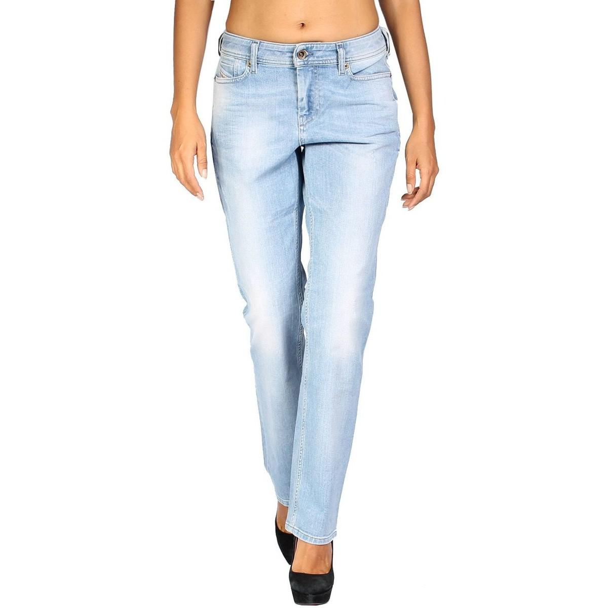 38256e19 DIESEL. - Women's Jeans Reen 839g - Regular Straight Women's Jeans In Blue