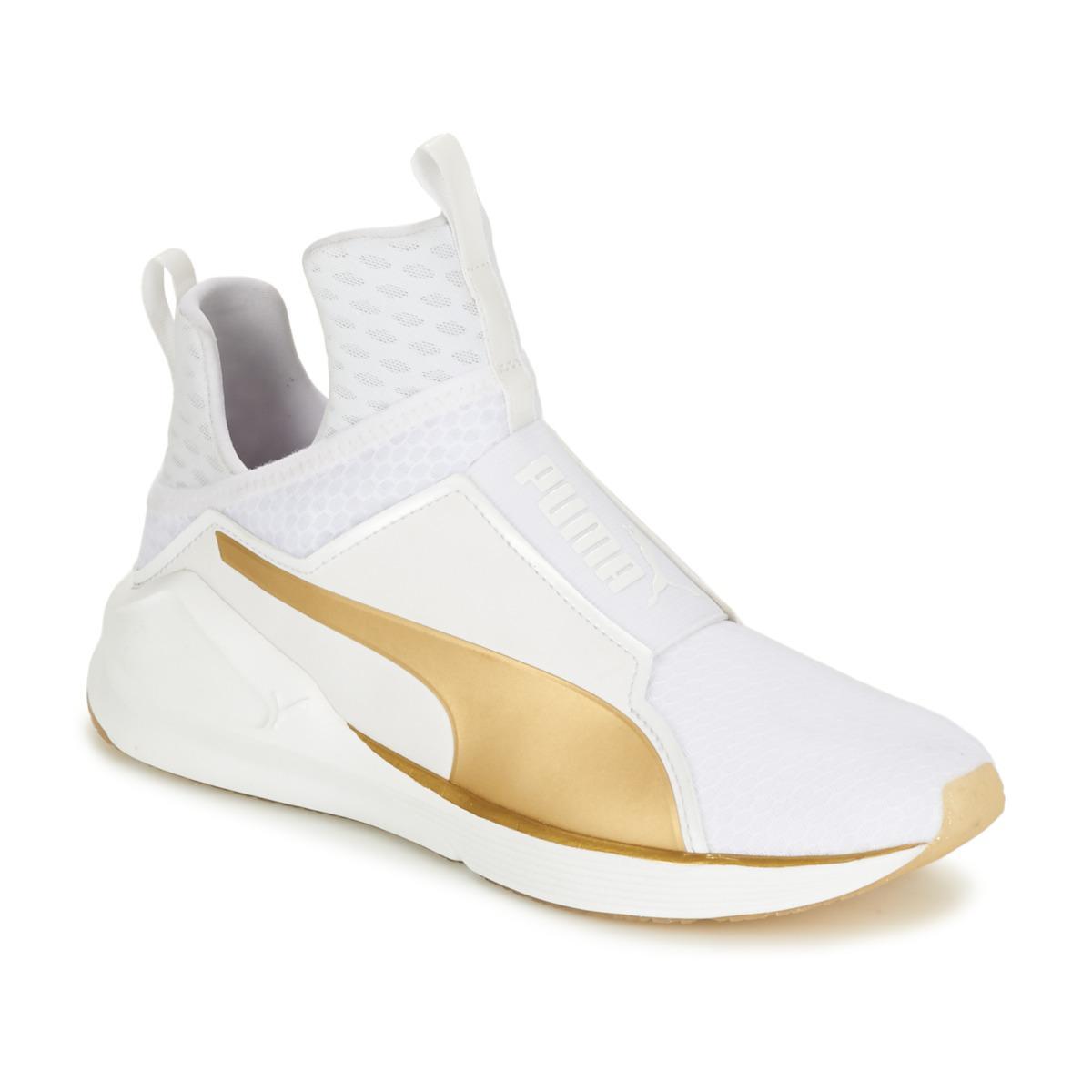 PUMA Fierce Gold Women s Shoes (high-top Trainers) In White in White ... e1c7e75bb
