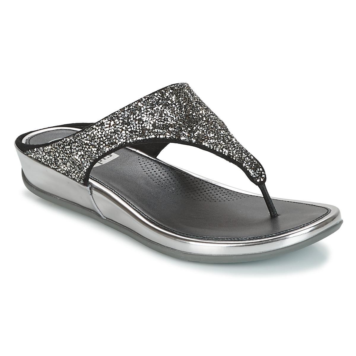 97df018ba Fitflop Banda Crystal Women s Flip Flops   Sandals (shoes) In Silver ...