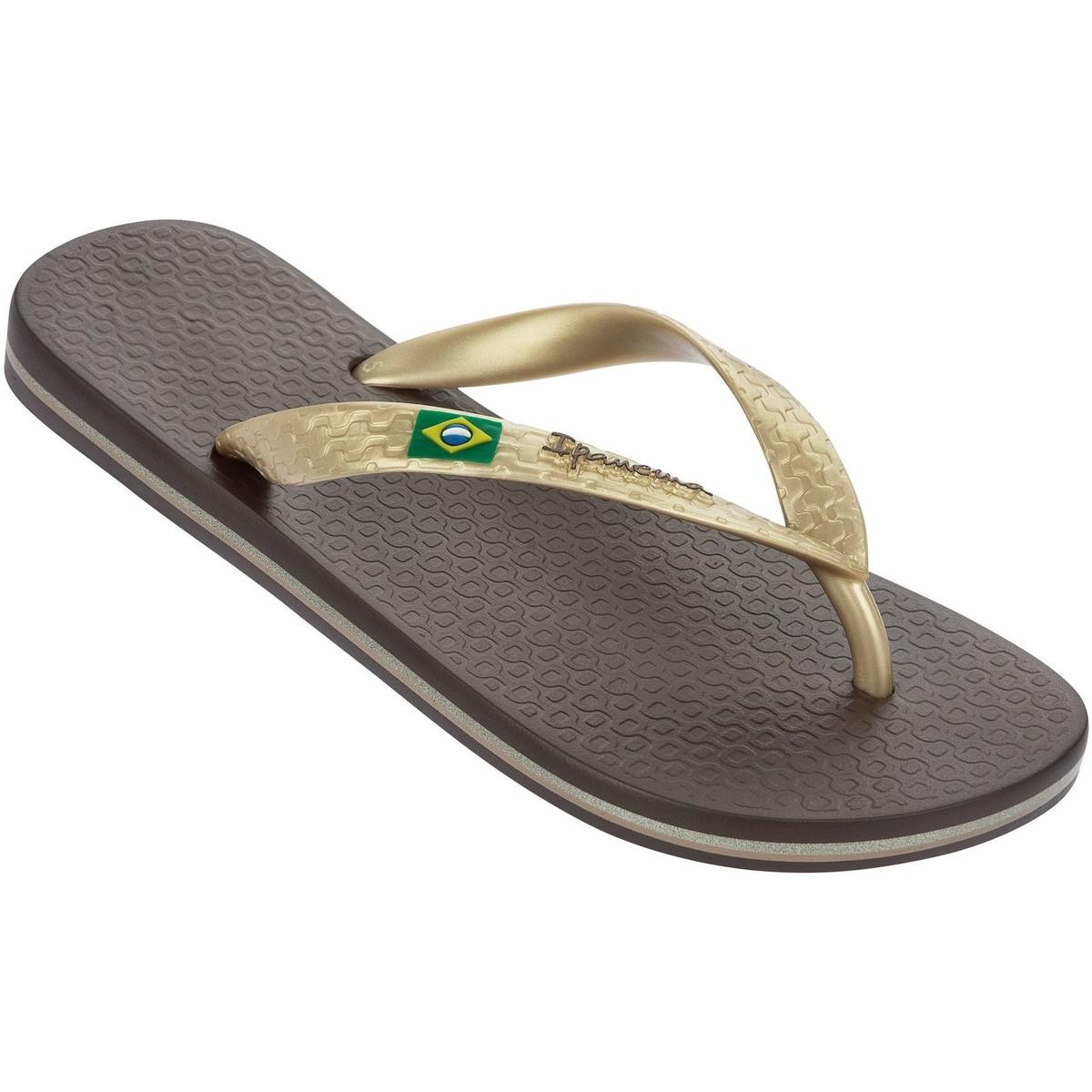 Ipanema Brazil Ii Flag Sandals In Brown Gold 80408a Women s Flip ... bebbf0be4a