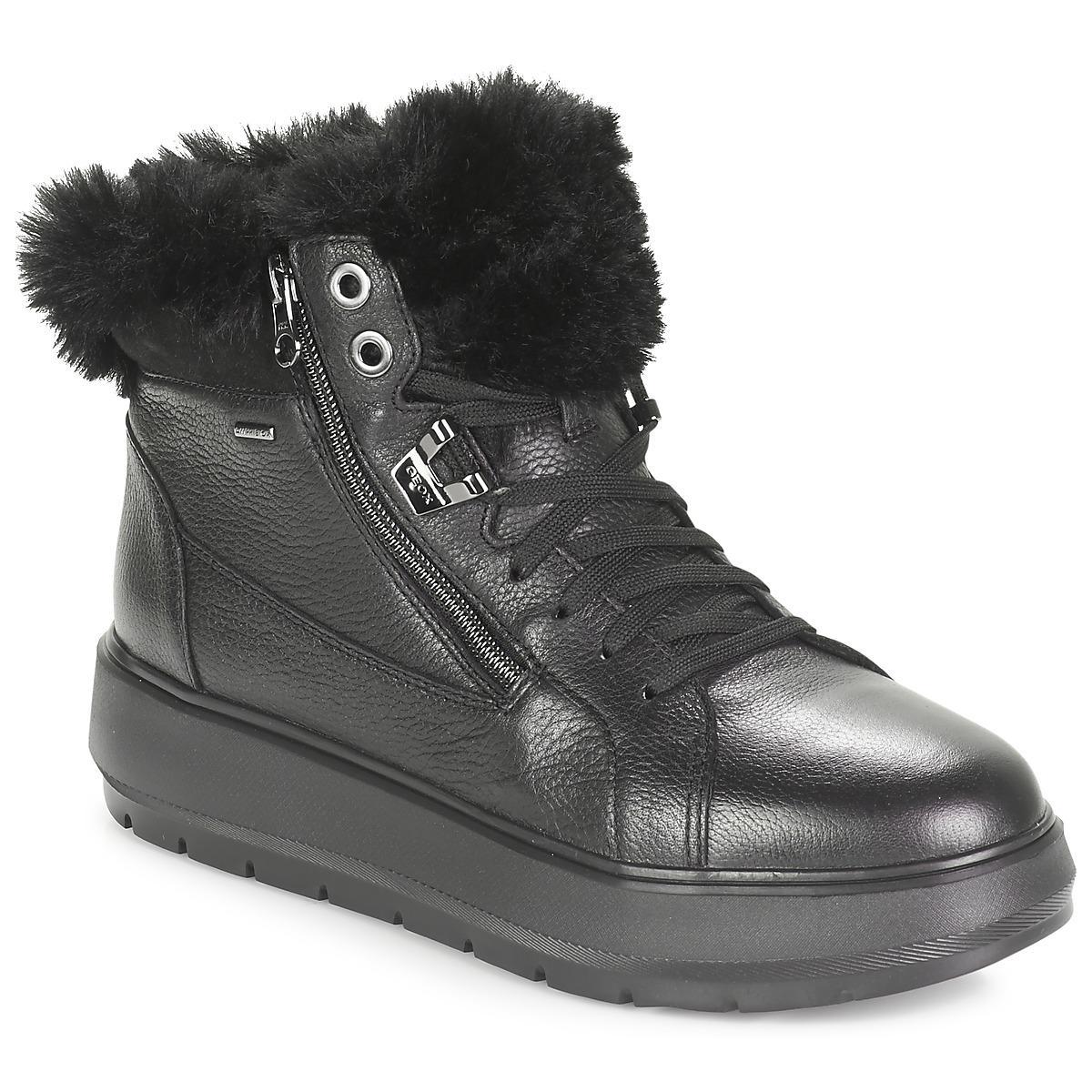 de8252e3421 Geox D Kaula B Abx Women's Mid Boots In Black in Black - Lyst