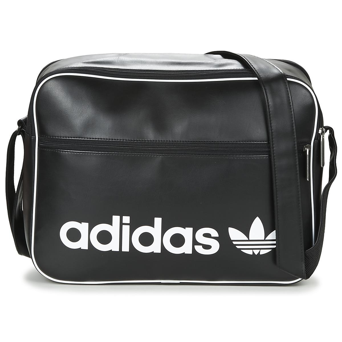 adidas Airliner Vintage Men s Messenger Bag In Black in Black for ... fffdf1ef8b