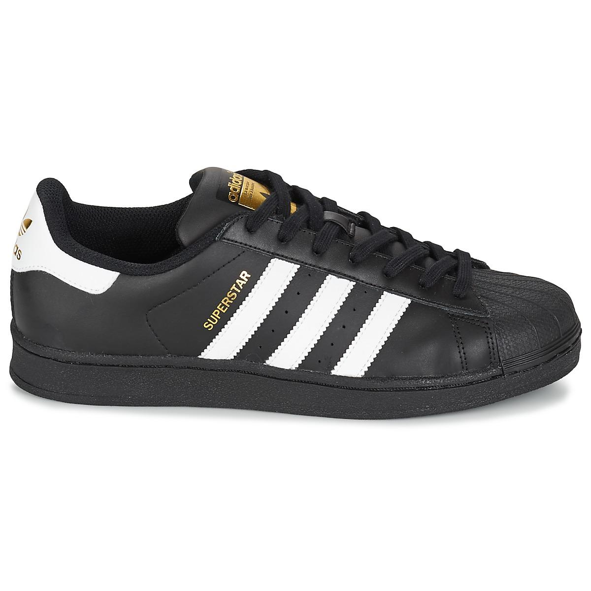 5e78fcac84 Adidas - Superstar Foundation Women's Shoes (trainers) In Black - Lyst.  View fullscreen