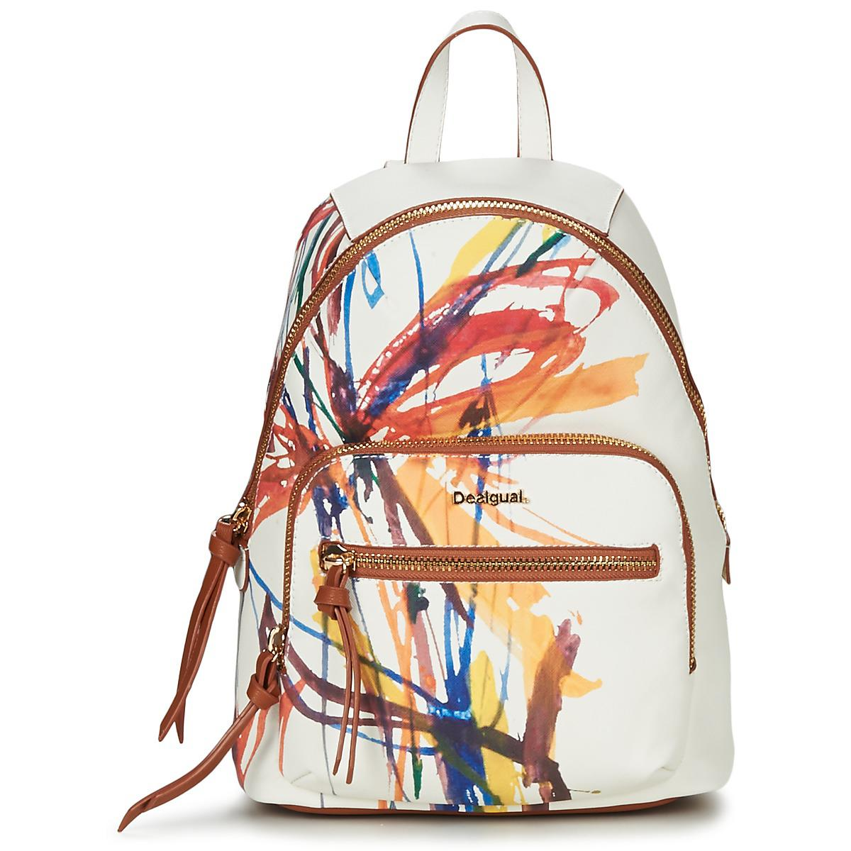 363fbd3f5bc Desigual Acid Ink Lima Women s Backpack In White in White - Lyst