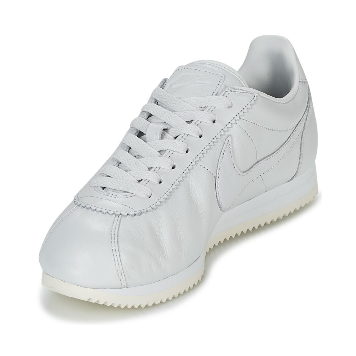 the latest 75329 914f4 Nike - Classic Cortez Premium Men s Shoes (trainers) In White for Men - Lyst.  View fullscreen