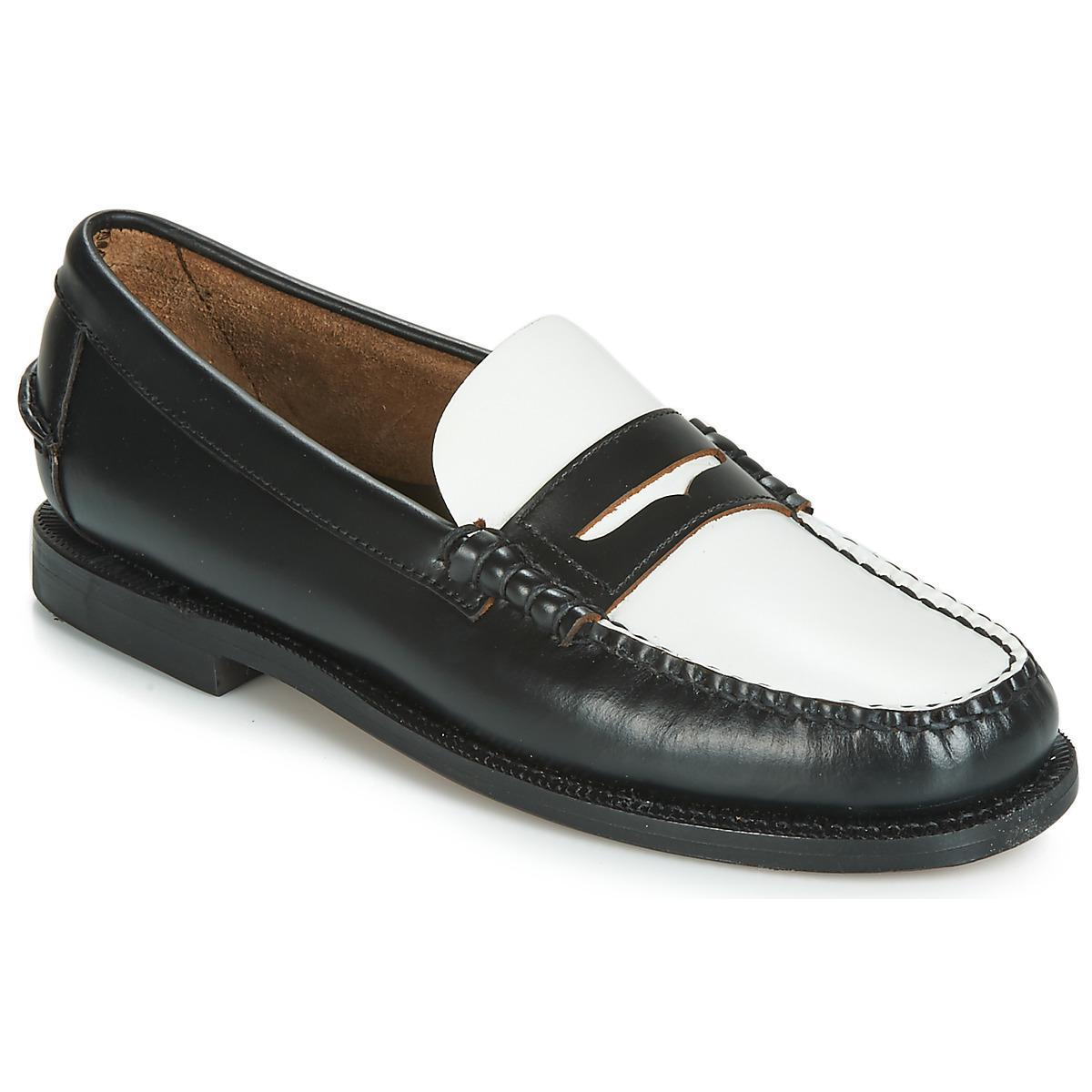 de300100dd9 Sebago Classic Dan W Loafers   Casual Shoes in Black - Lyst