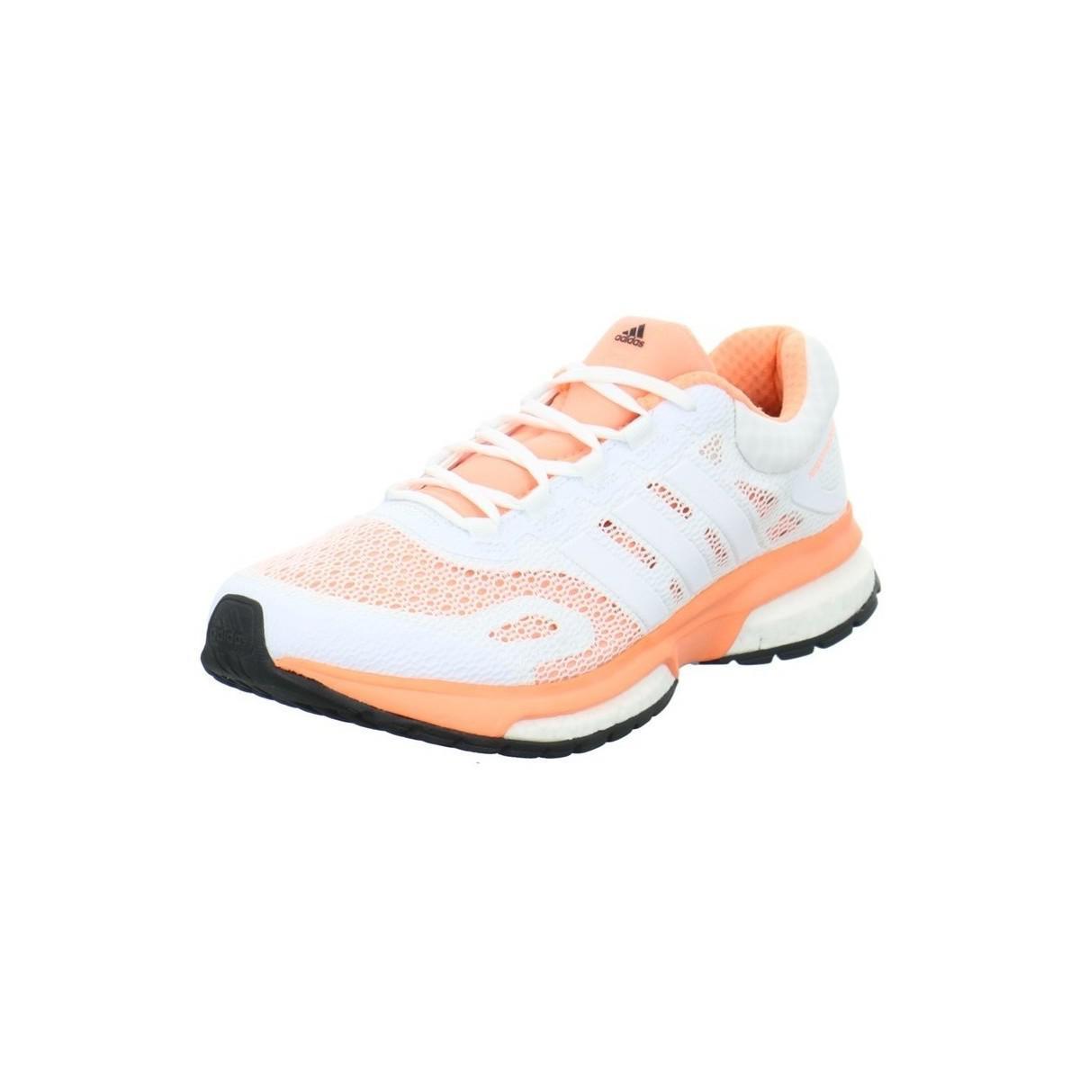 Adidas risposta impulso w scarpe da donna (formatori) in bianco in bianco.