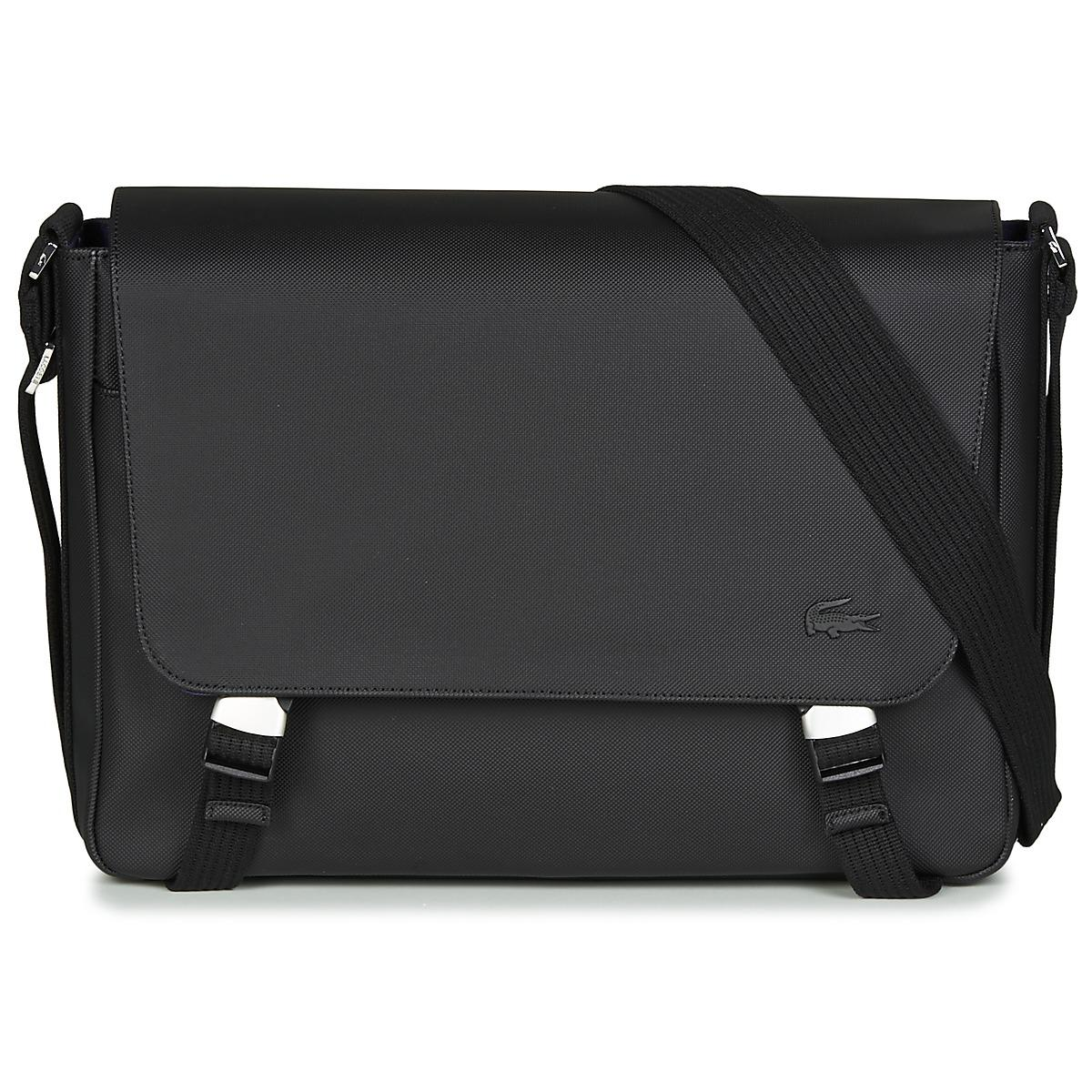 7ba97569b Lacoste Men s Classic Messenger Bag Men s Messenger Bag In Black in ...