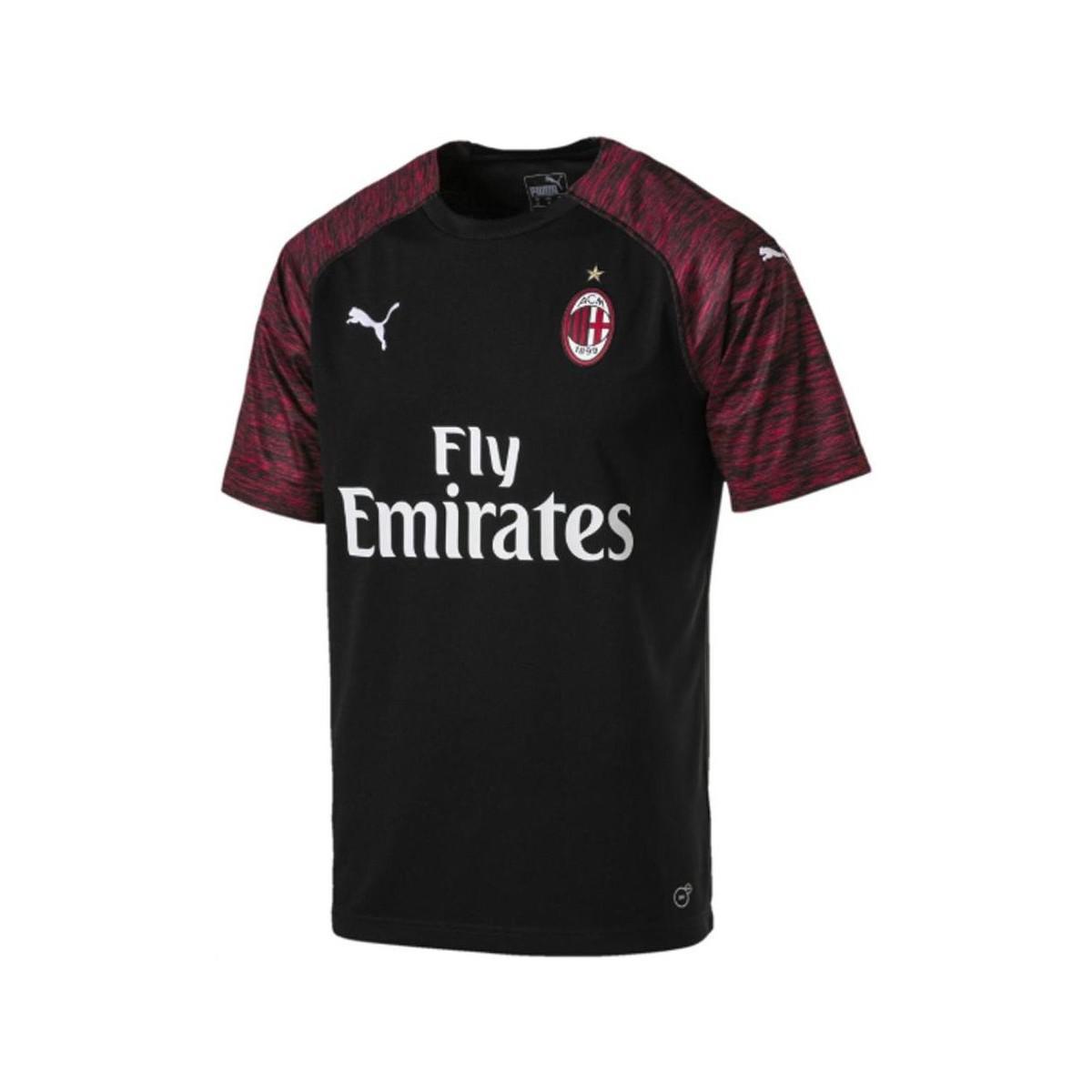 PUMA 2018-2019 Ac Milan Third Football Shirt Men s T Shirt In Black ... 2ae203768