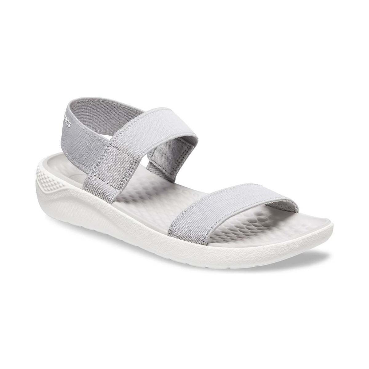ba772fe0a Crocs™ Literide Womens Wedge Heel Sandals Women s Sandals In Grey in ...