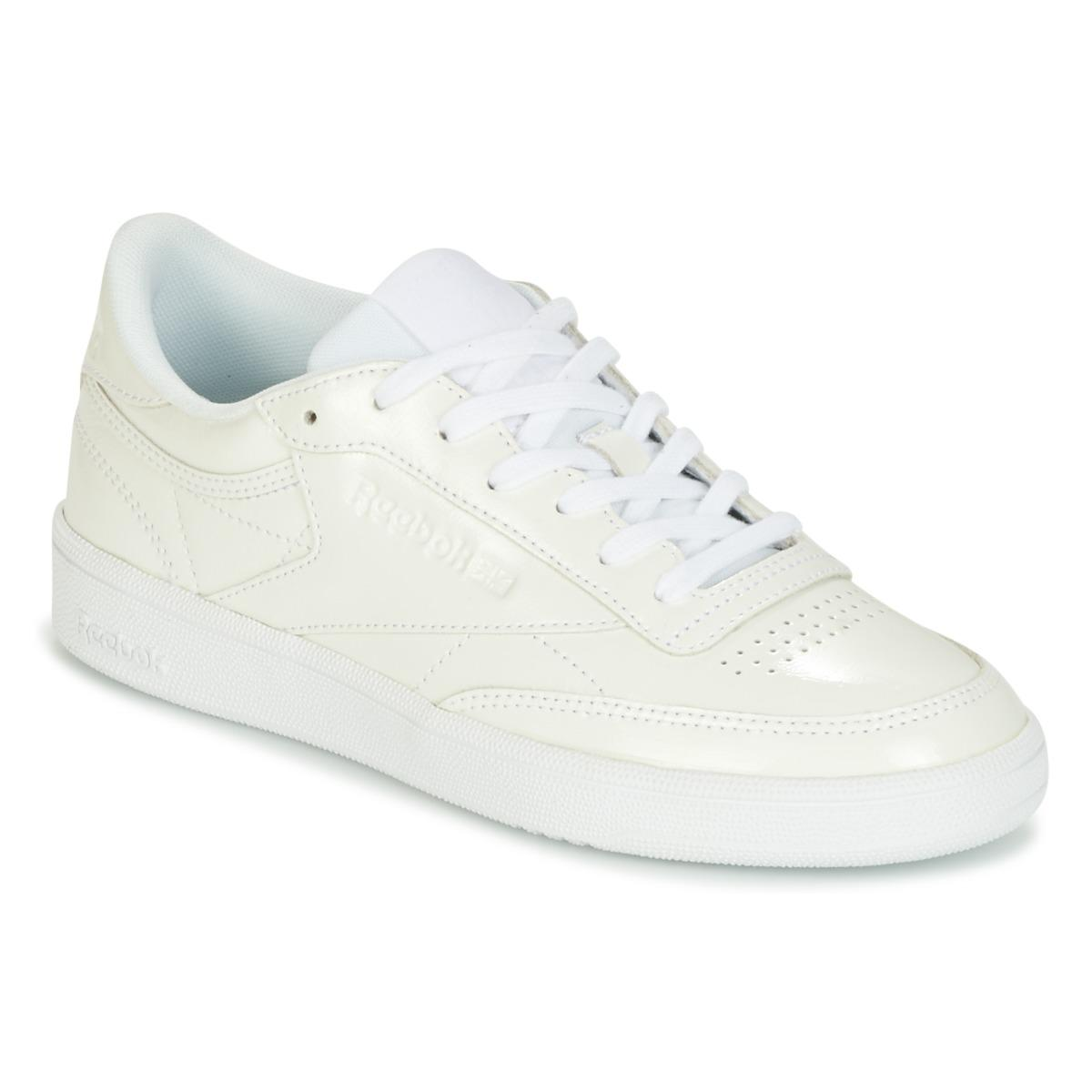 c5ee9b43b29 Reebok Club C 85 Patent Shoes (trainers) in White - Lyst