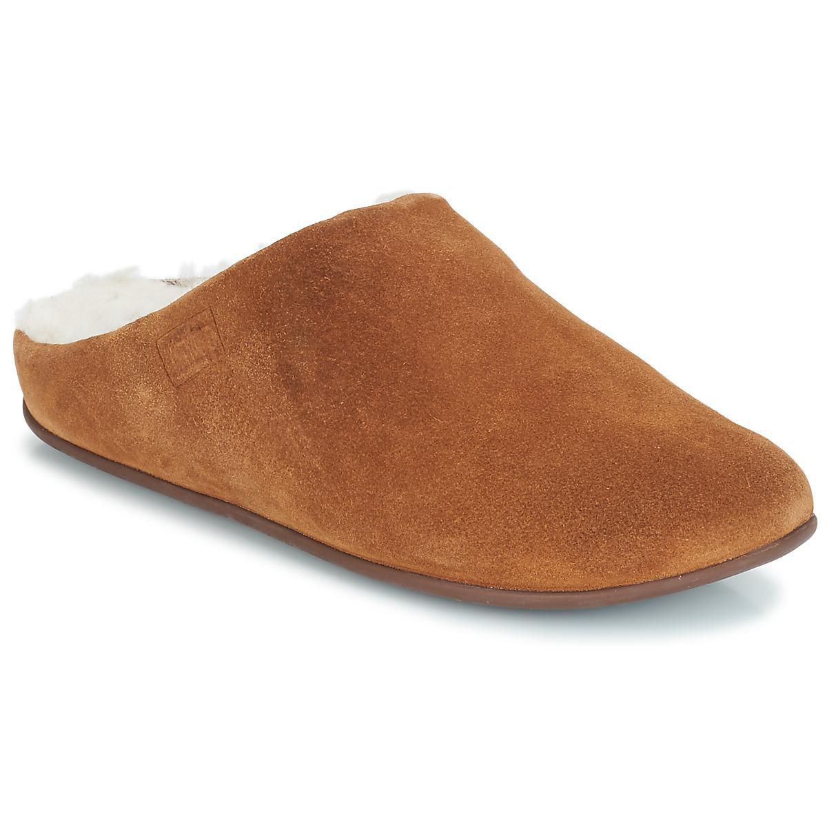 9bd2079d1 Fitflop Chrissie Shearling Flip Flops in Brown - Lyst