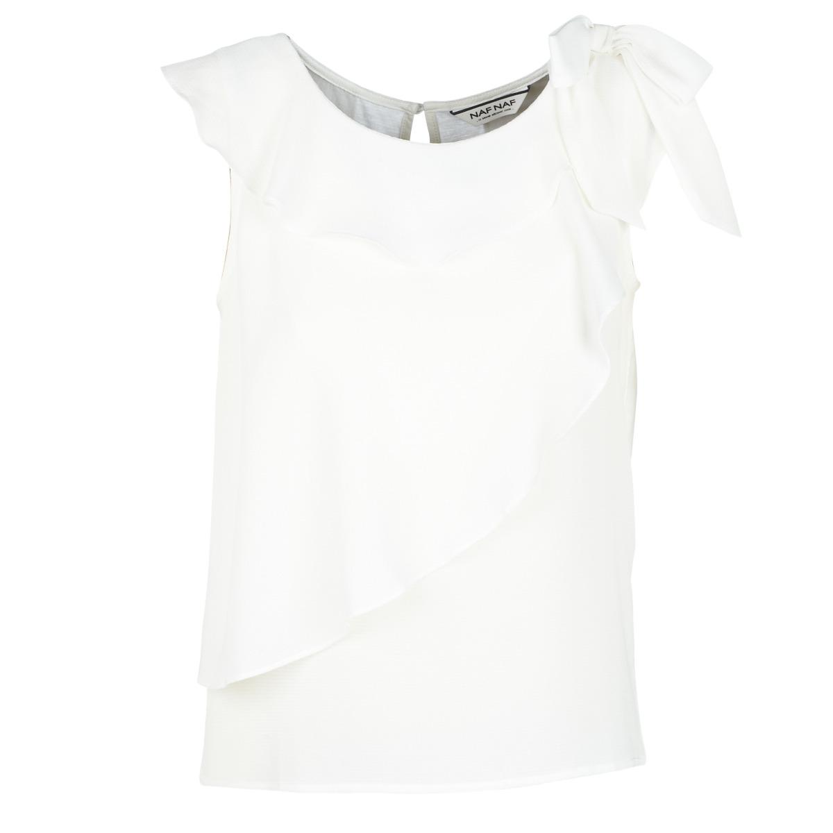 Lyst Blouse T1 Naf Women's In Okirie White Clr3jq54a EHD92I