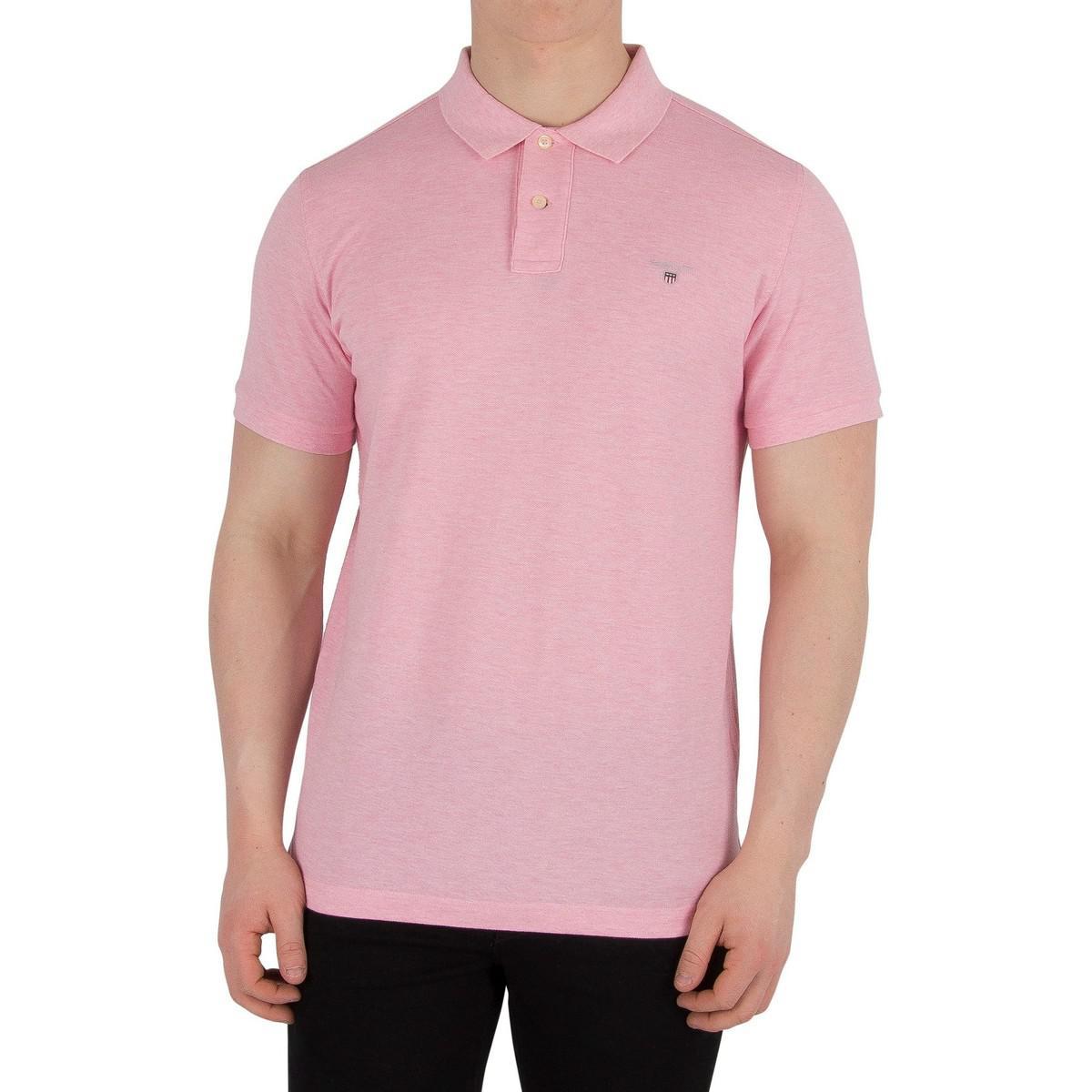 Gant Mens The Original Pique Rugger Polo Shirt Pink Mens Polo