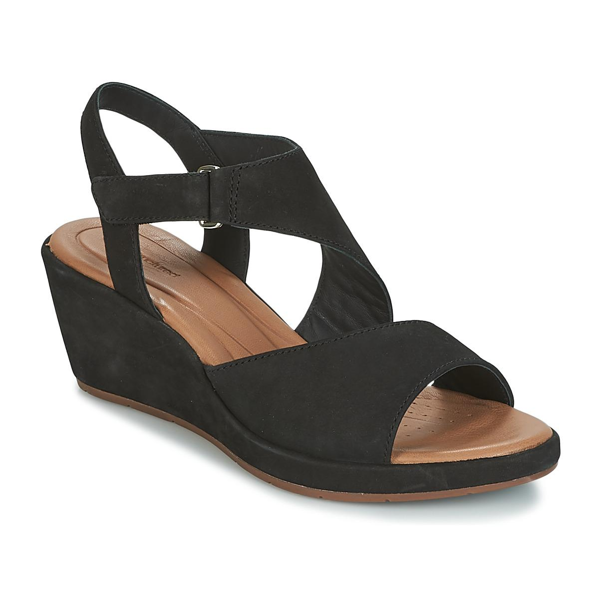 1650a4b1c Clarks Un Plaza Sling Sandals in Black - Lyst