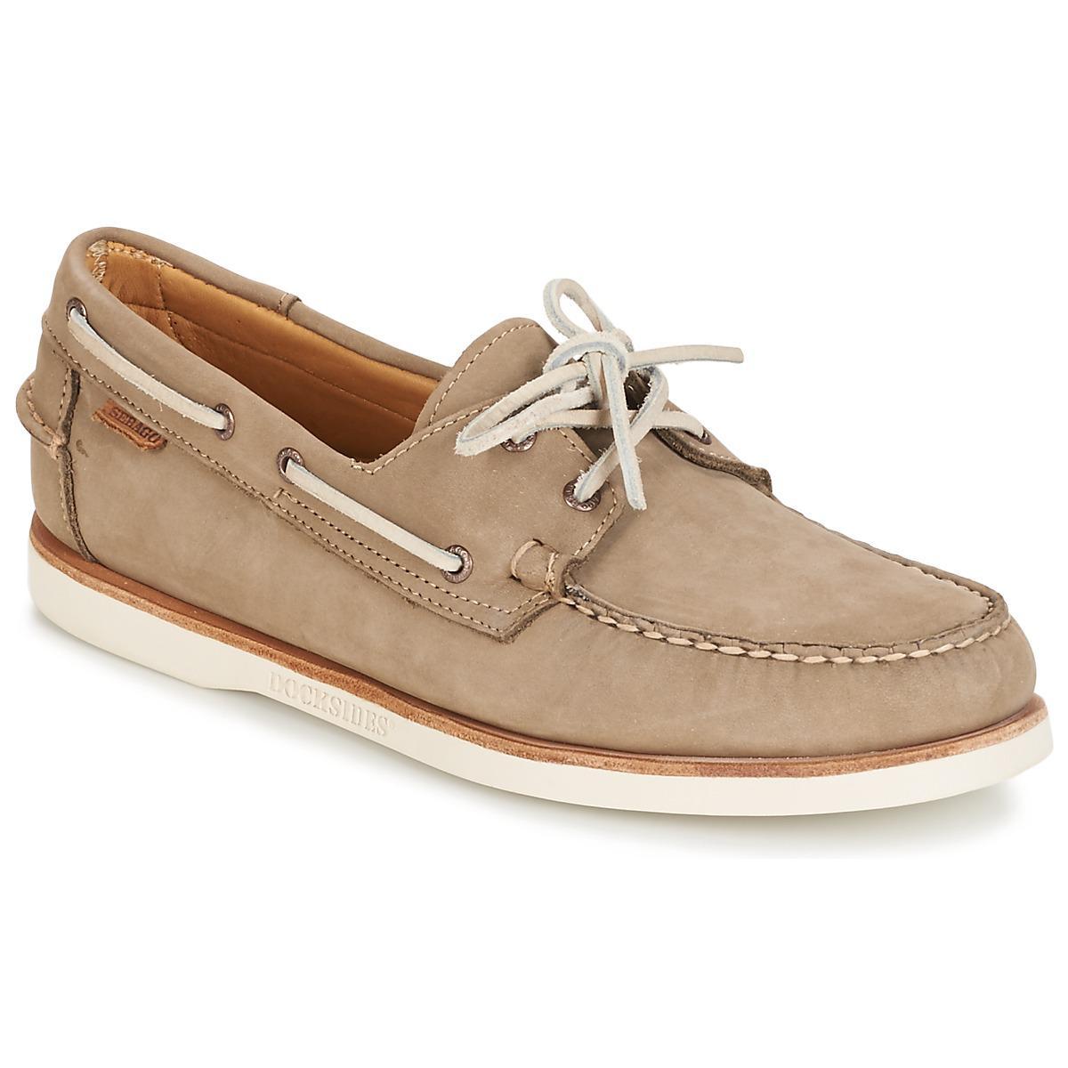 dc141c22a00 Sebago Crest Docksides Men s Boat Shoes In Beige in Natural for Men ...