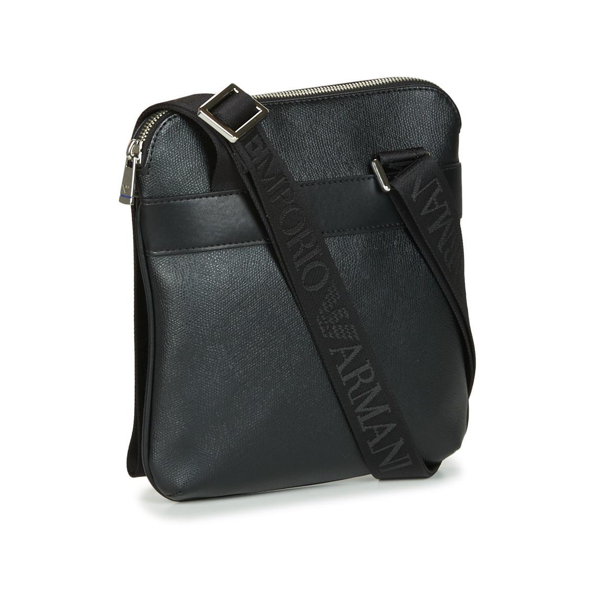 9c96a814367f Emporio Armani - Black BUSINESS FLAT MESSENGER BAG hommes Sacoche en Noir  for Men - Lyst. Afficher en plein écran