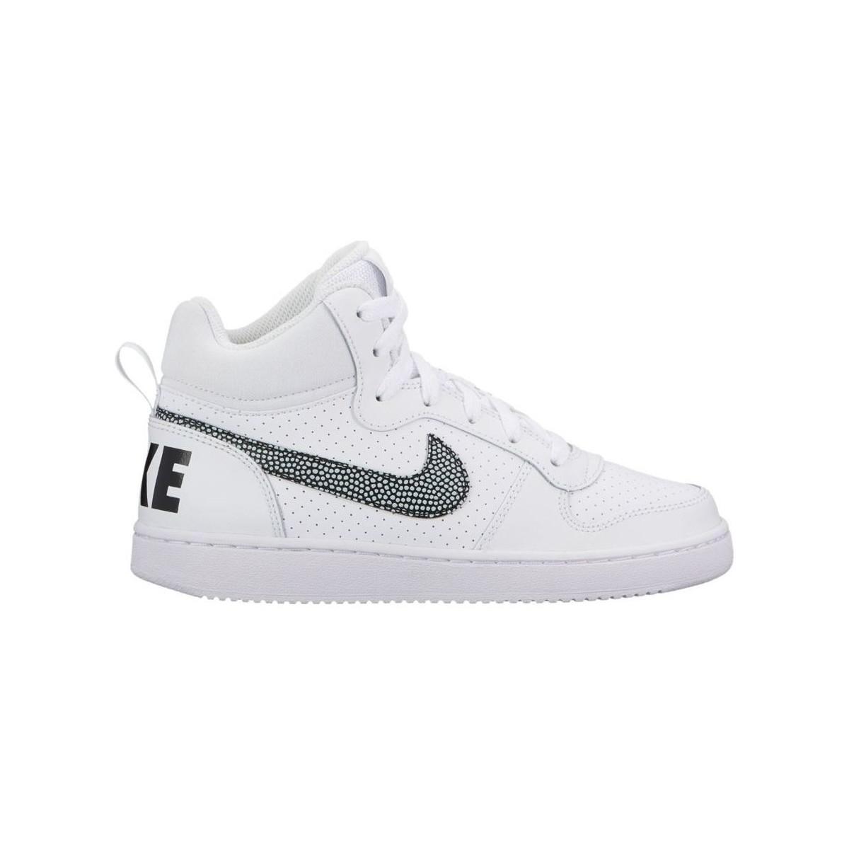 Hommes Nike Haut Blanc Baskets Garçons