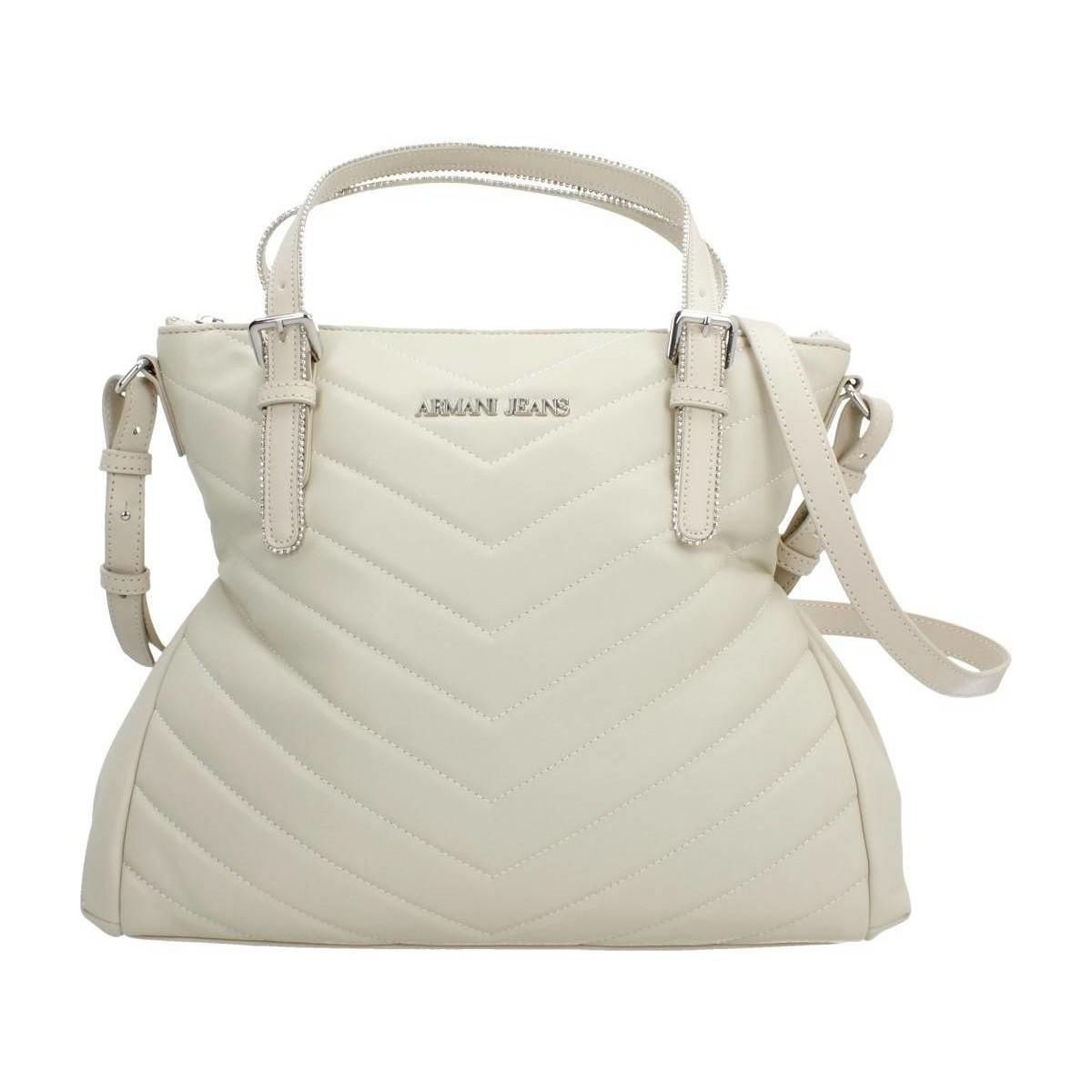Armani Jeans. Natural Borsa Shopping Giord Women's Shopper Bag In Beige 409fd0df2c2a