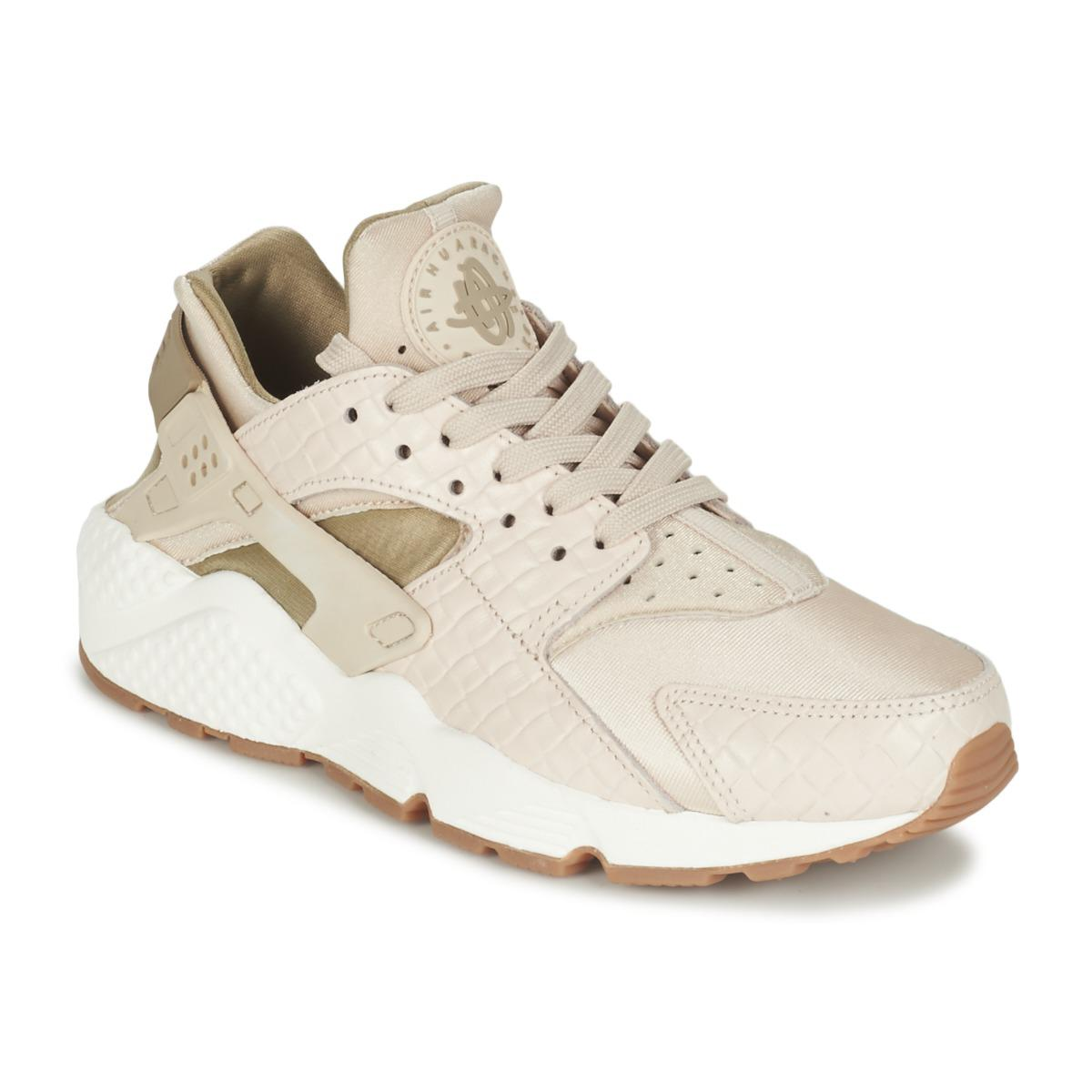 0bdaff4be43 Nike Air Huarache Run Premium W Women s Shoes (trainers) In Beige in ...