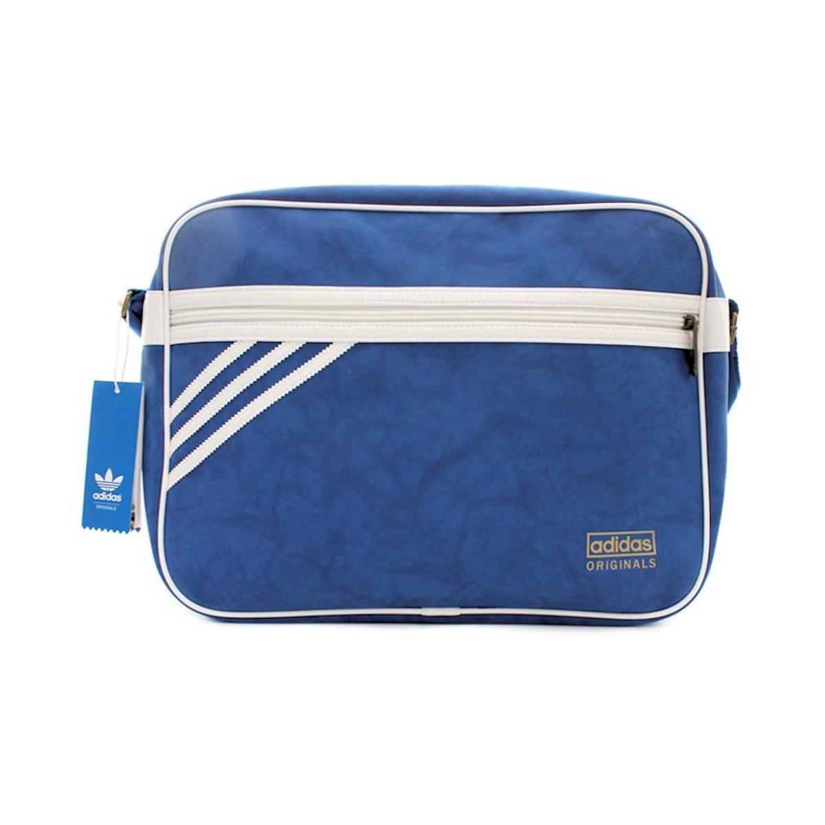 e480c5a98d28 adidas Airliner Suede Men s Messenger Bag In Blue in Blue for Men - Lyst