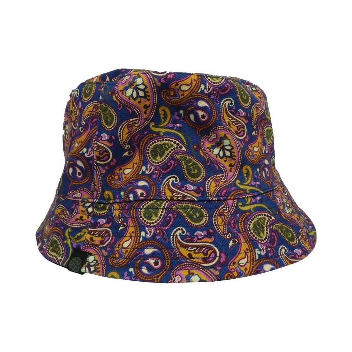 371fed0ce4c706 Pretty Green Reversible Paisley Print Bucket Hat Men's Hat In Blue ...
