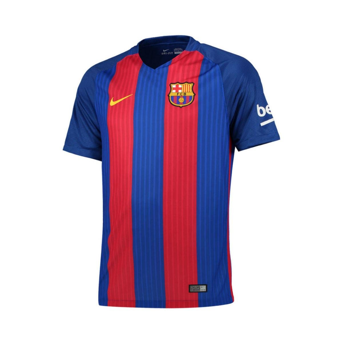 8142d0269 Nike 2016-2017 Barcelona Home Shirt (kids) Men's T Shirt In Red in ...