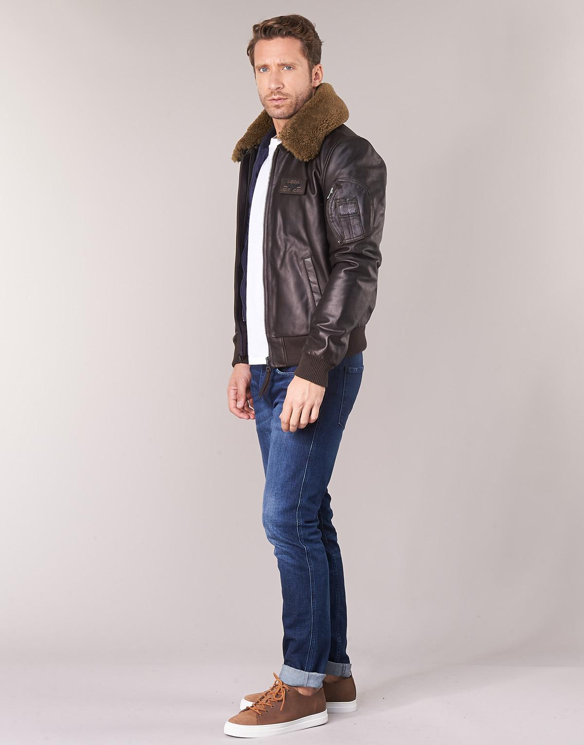 Redskins Commander Striking Leather Jacket in Brown for Men - Lyst 72d264a25a5