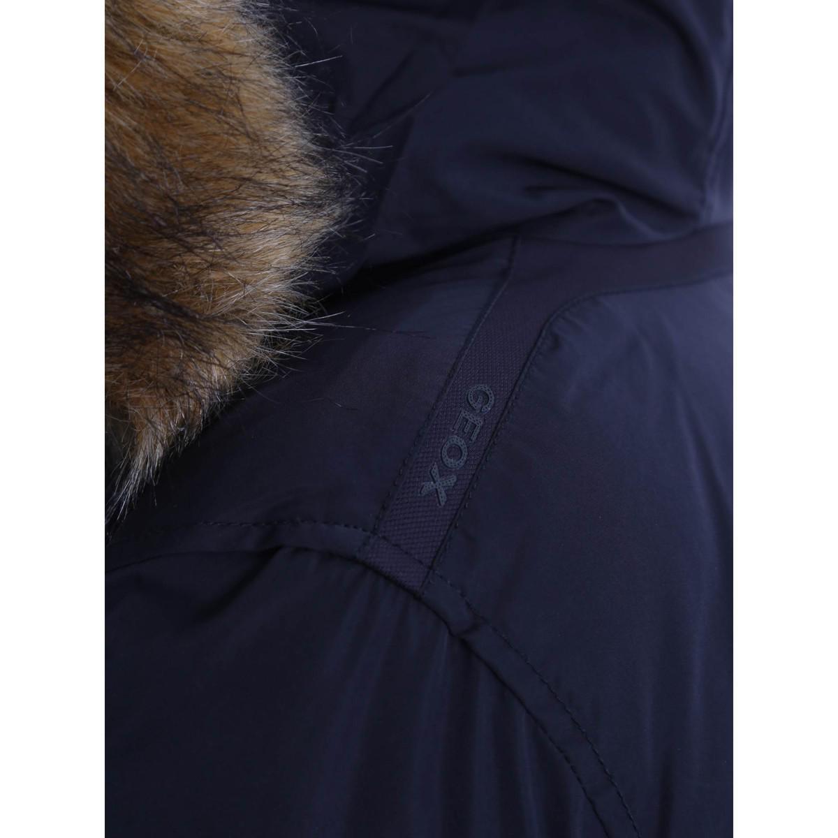 2f050d7136 Geox W6425s T2266 Down Jacket Women Blue Women's Coat In Blue in ...