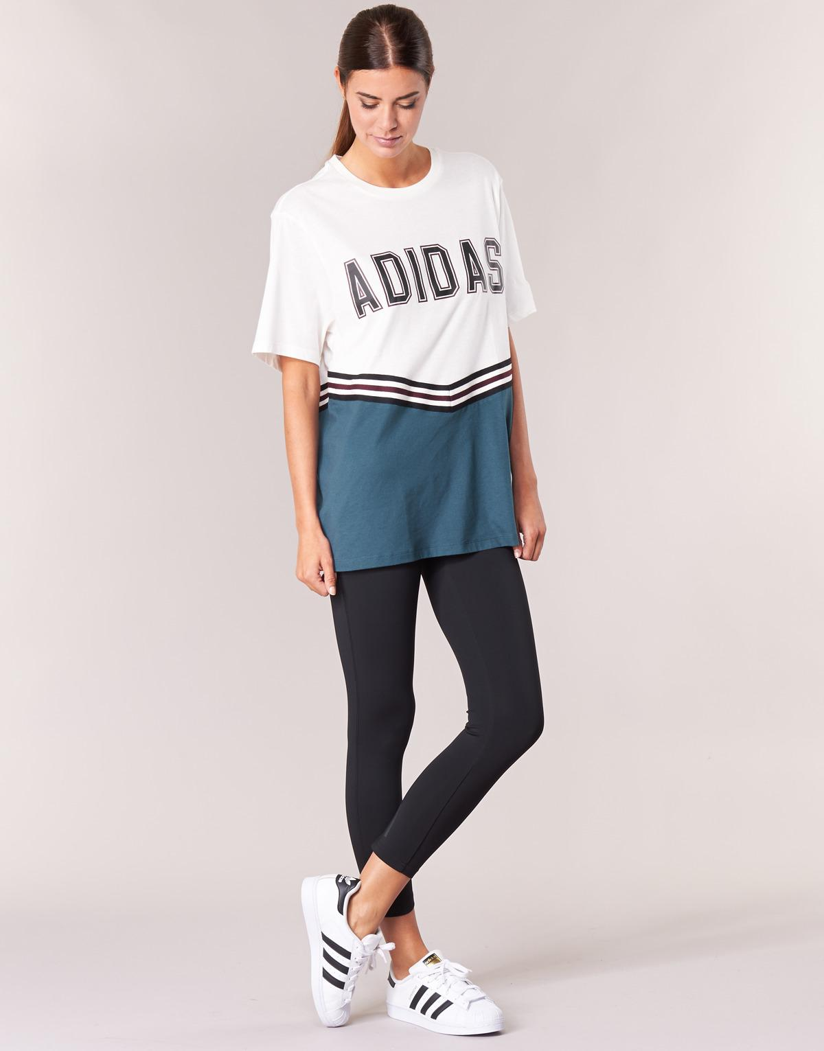 0a904bcded4 adidas Adibreak Ss Tee Women's T Shirt In White in White - Lyst