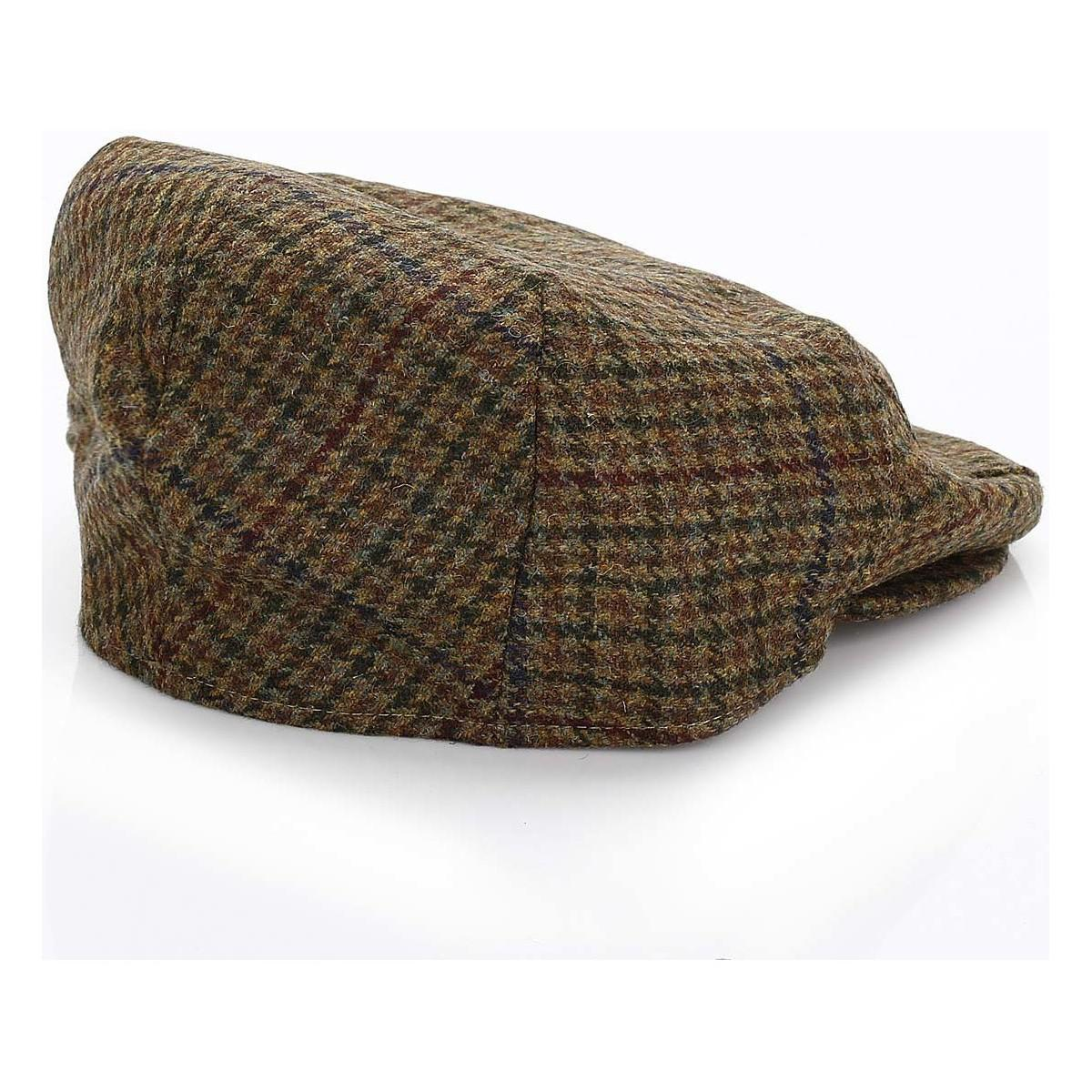 10804133f99 Barbour - Mens Dark Olive Check Crieff Cap Men s Hat In Green for Men - Lyst.  View fullscreen