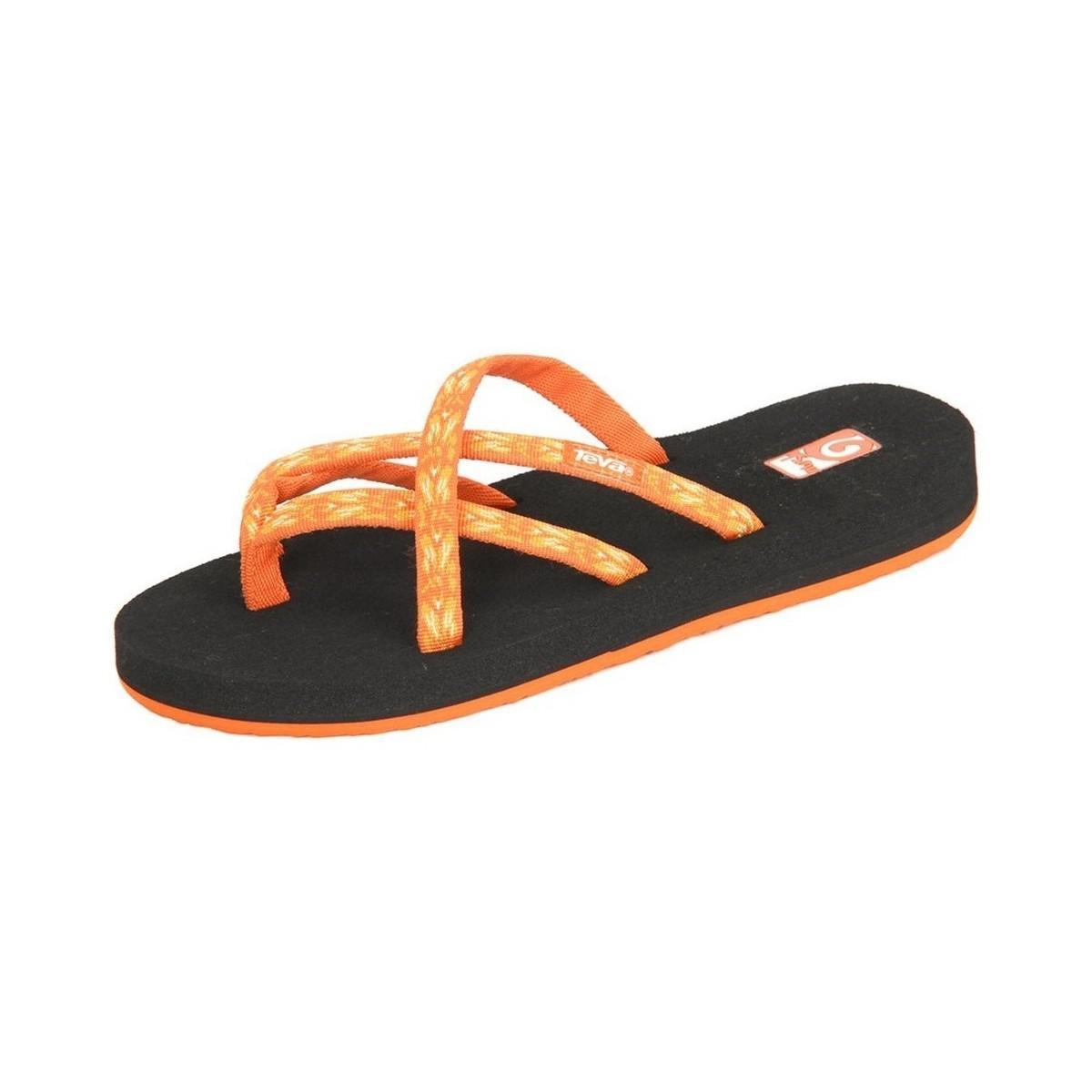 ecab60a65127ed Teva Olowahu Ws Hazel Orange Women s Flip Flops   Sandals (shoes) In ...
