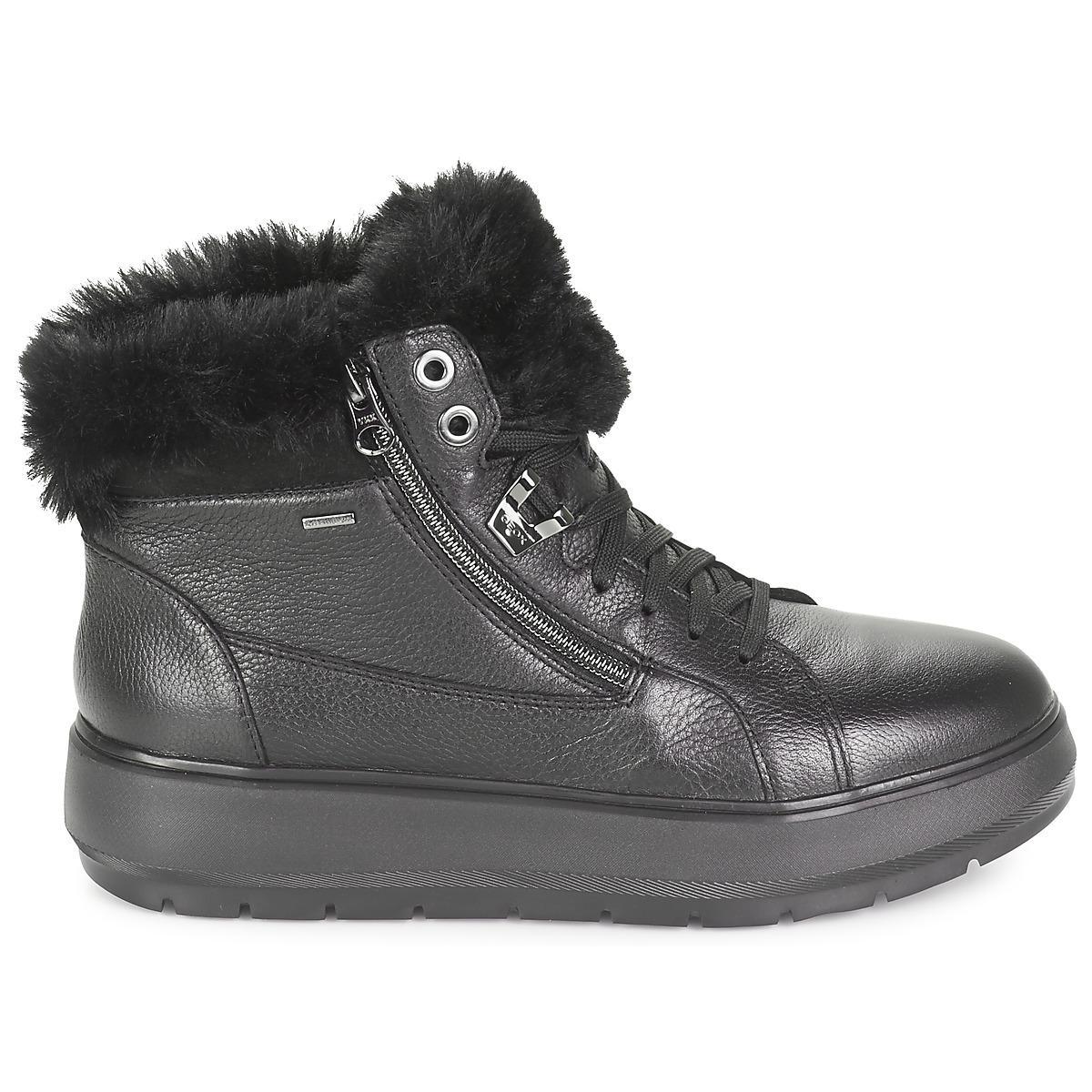 f025cd8f80d Geox - D Kaula B Abx Women's Mid Boots In Black - Lyst. View fullscreen
