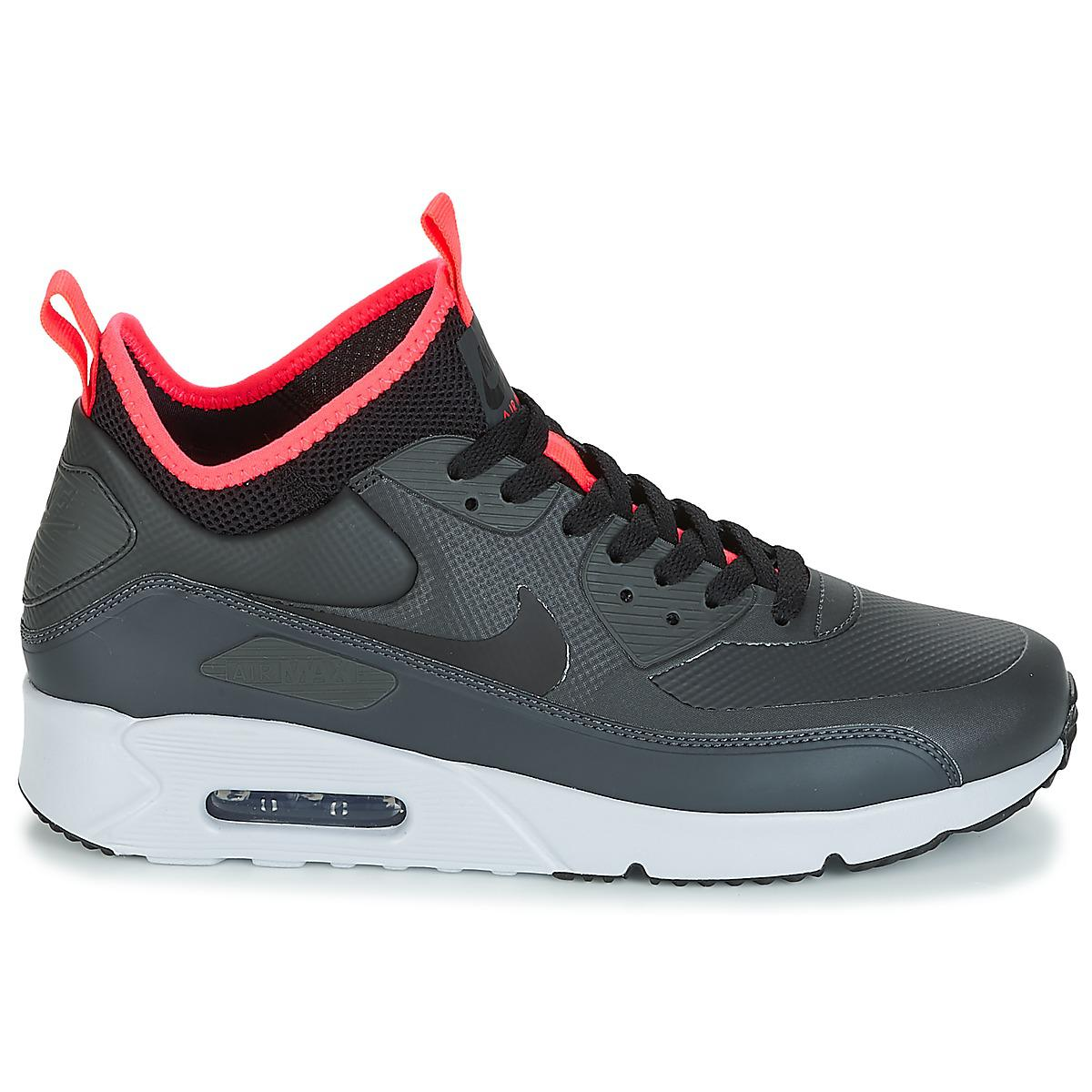 f0807f523d Nike - Gray Air Max 90 Ultra Mid Winter Men's Mid Boots In Grey for Men.  View fullscreen