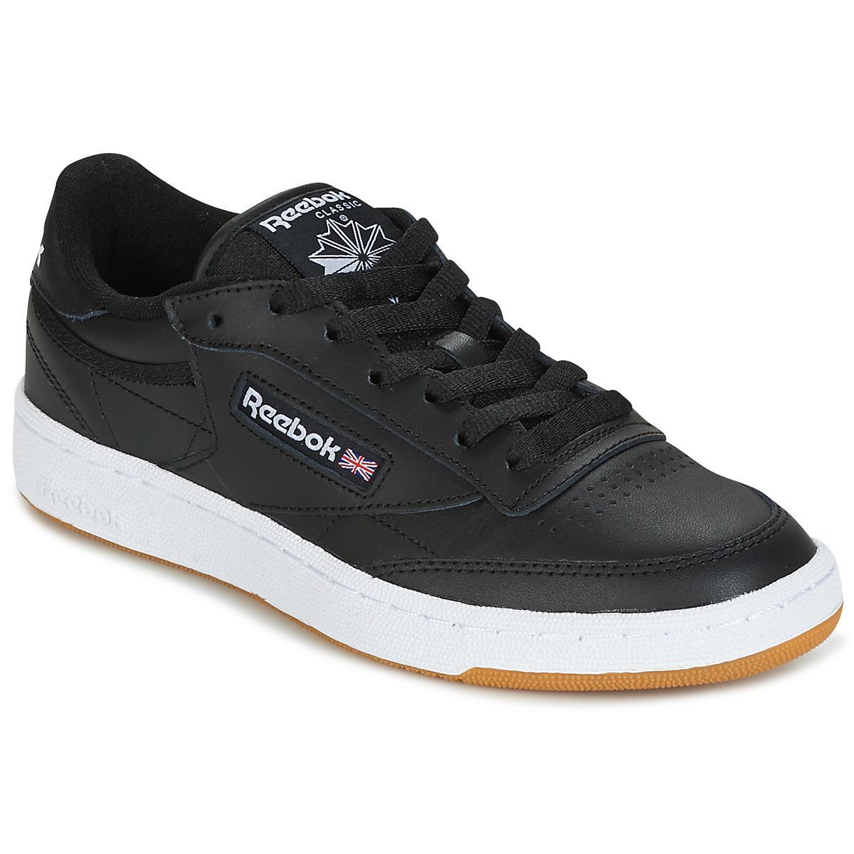 3f99bac688 Reebok Club C 85 C Women's Shoes (trainers) In Black in Black - Lyst