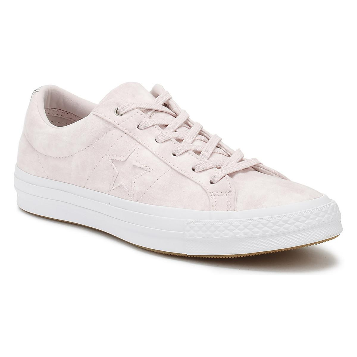 defffa39838e Converse. One Star Womens Barely Rose Canvas Ox Trainers Women s Shoes ...