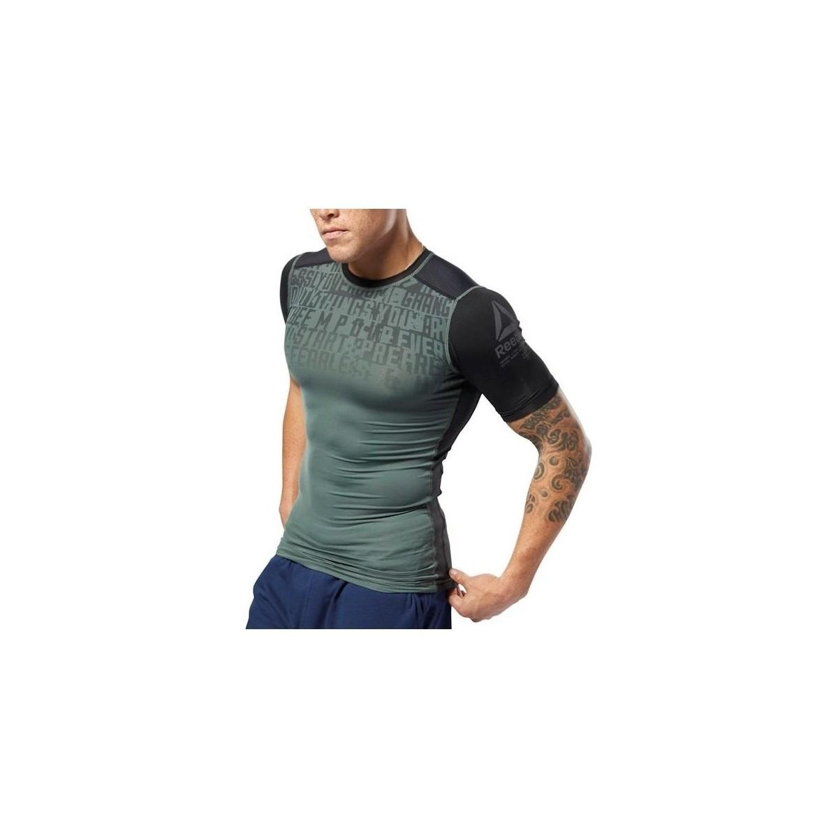 972427cca7d1 Reebok Activchill Graphic Compression Men s T Shirt In Grey in Gray ...