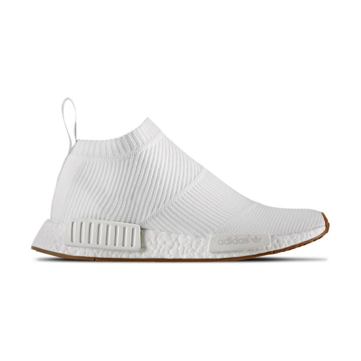 lyst adidas nmd cs1 pk scarpe da uomo (high top formatori) in bianco