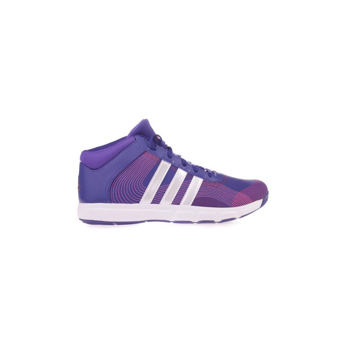 74b9235e3bee9 Adidas Essential Star Mid Women s Trainers In Purple in Purple - Lyst