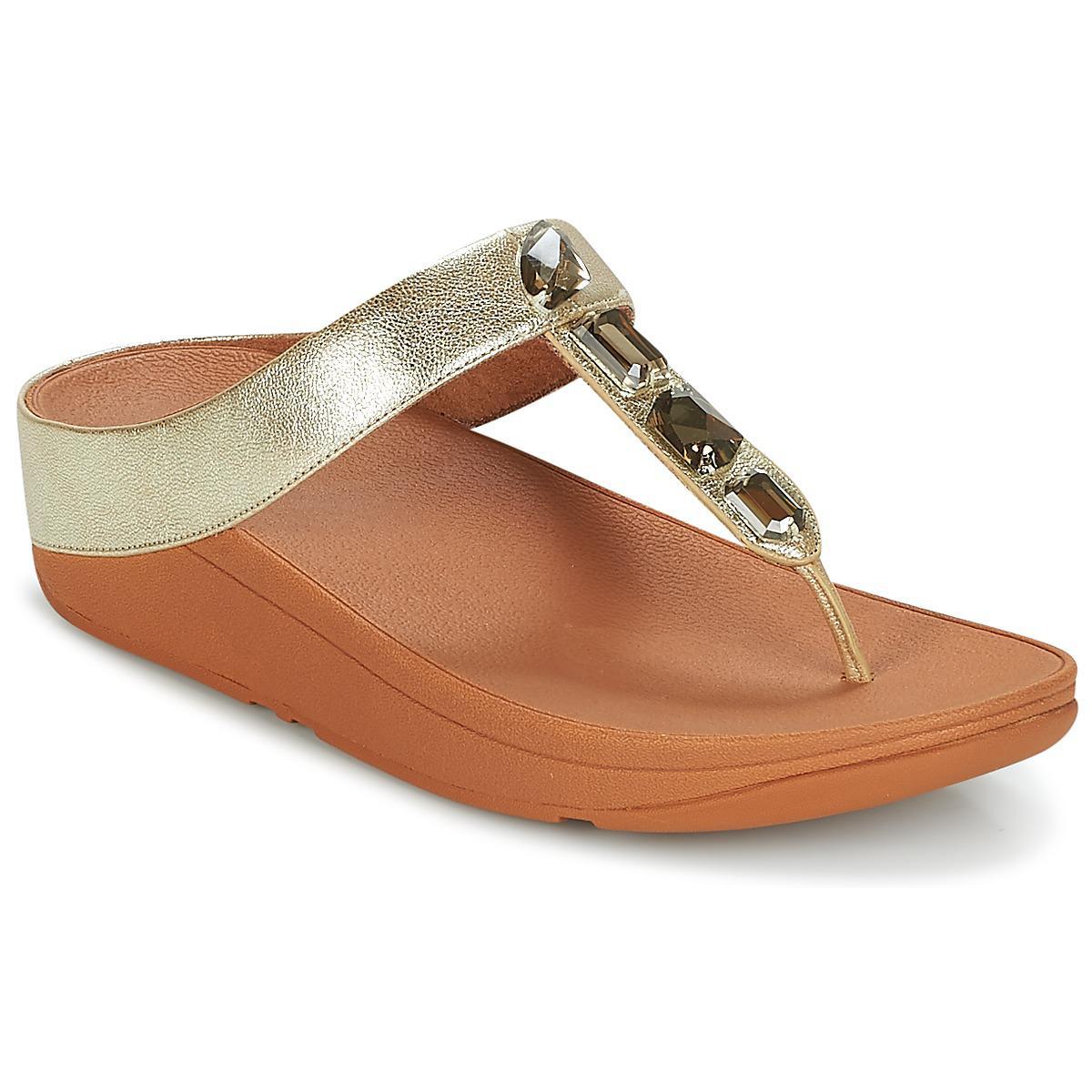 beeeec60e7ca8d Fitflop. Metallic Roka Women s Flip Flops   Sandals (shoes) In Gold