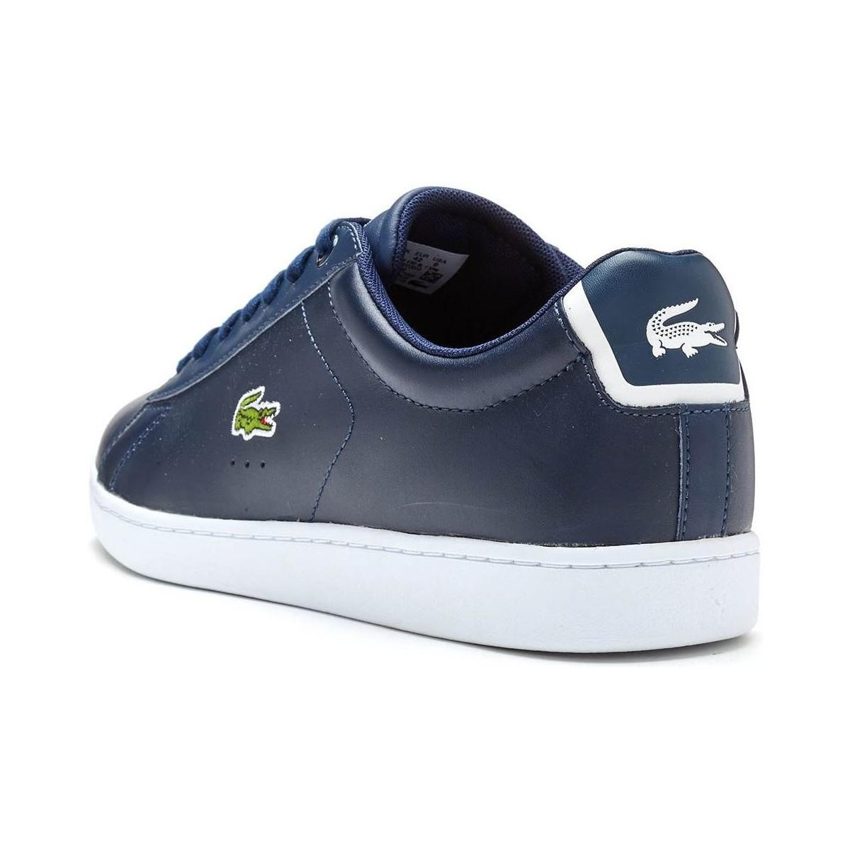 Bl Leather Spm In Evo Lacoste Carnaby Trainers Blue 1 Navy f7bYg6yv