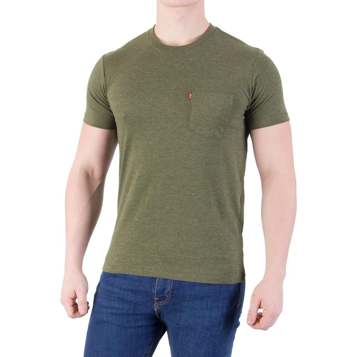 Levi 39 s levis men 39 s setin sunset pocket t shirt green men for Levis t shirt sale