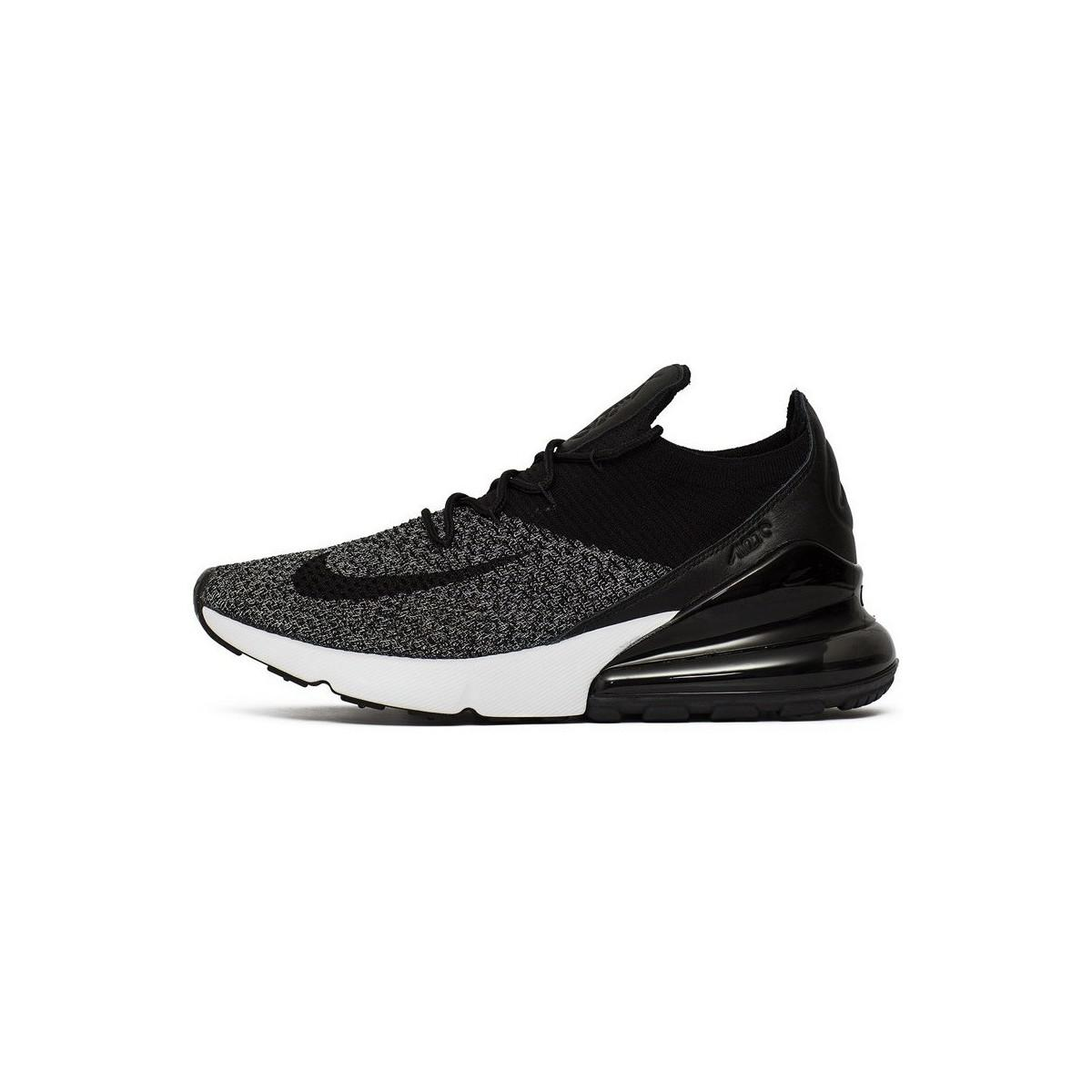 11556ab067af Nike Air Max 270 Flyknit Men s Shoes (trainers) In Black in Black ...
